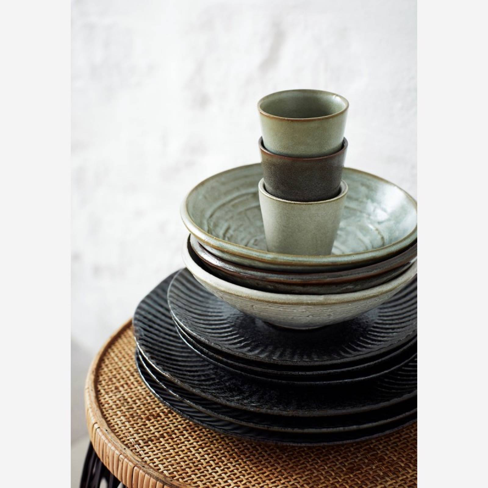 Small Stoneware Cup In Green Lichen thumbnails
