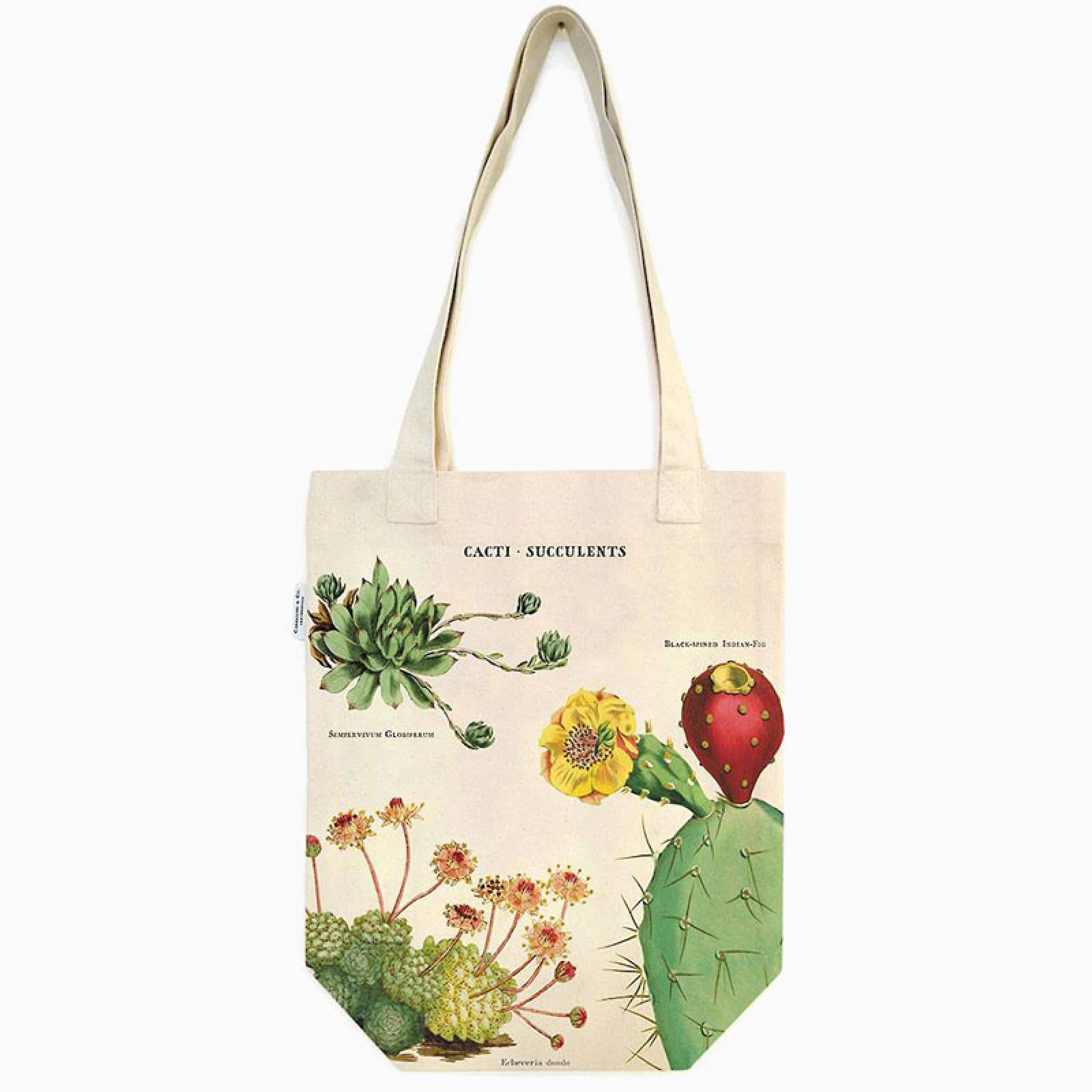 Succulents Cotton Tote Bag