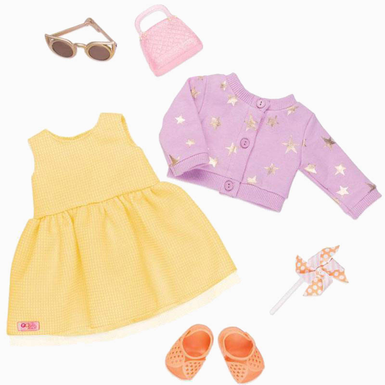 Summer Dress - Our Generation Doll Clothes Set 3+