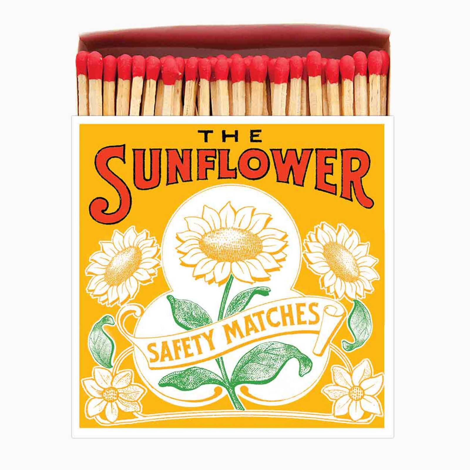 The Sunflower - Square Box Of Safety Matches