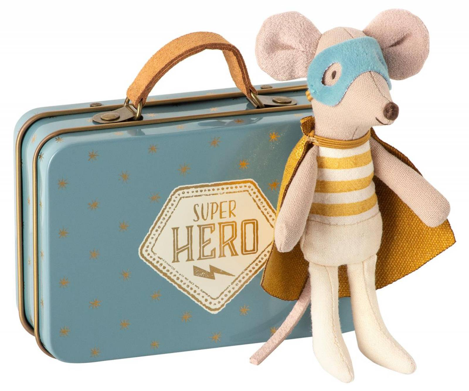 Superhero Little Brother Mouse In Tin Suitcase 0+