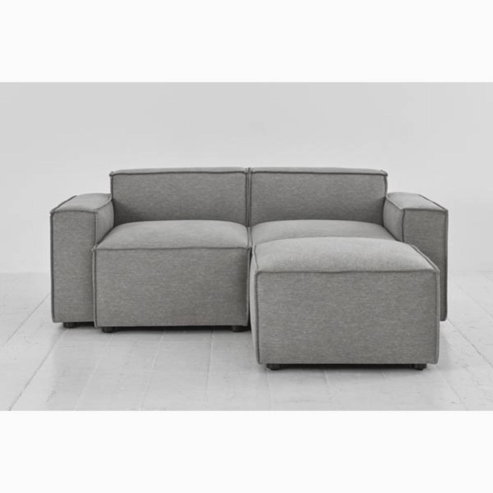Swyft - Model 03 - 2 Seater Sofa - Right Chaise - Linen Shadow