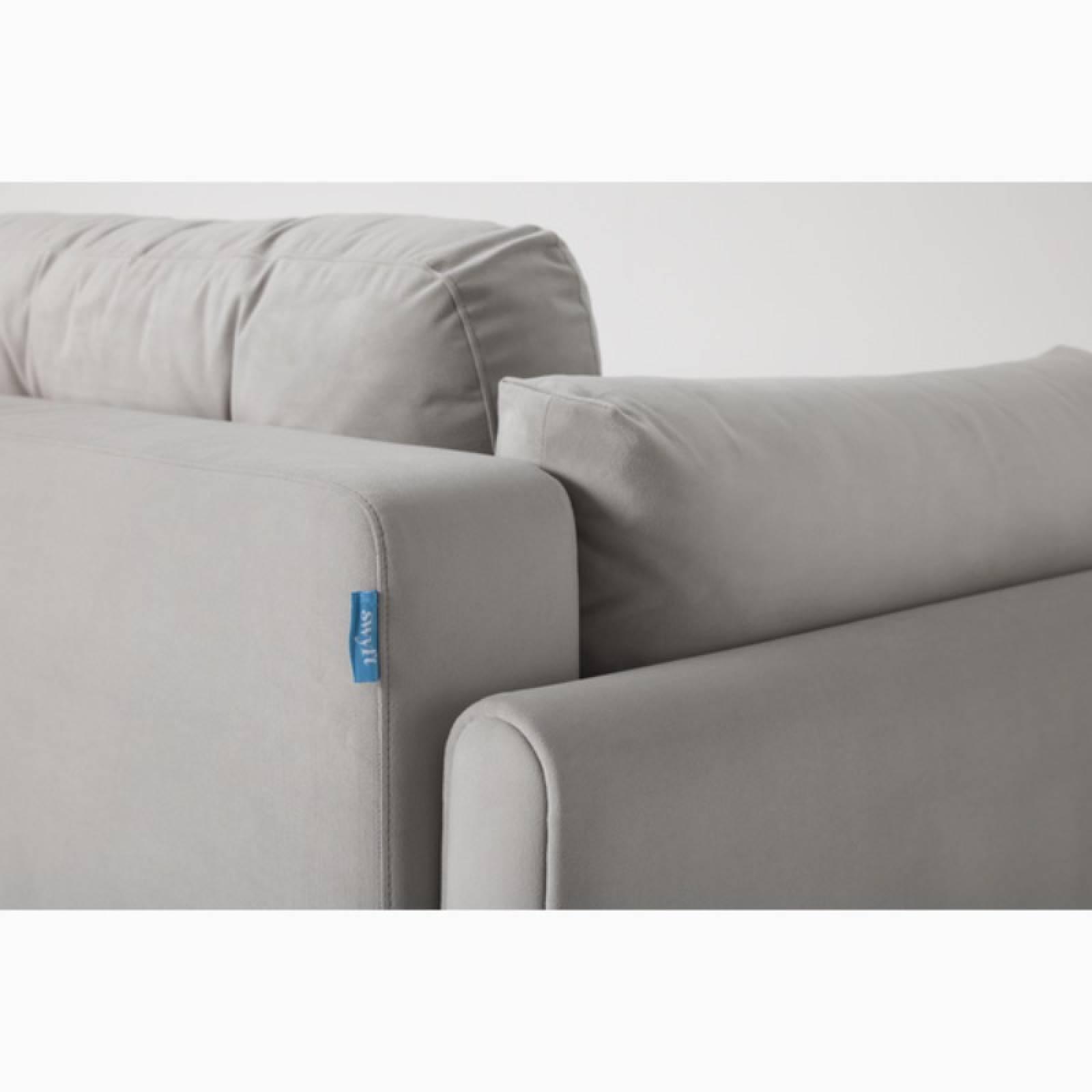Swyft - Model 04 - 3 Seater Sofa Bed - Velvet Light Grey thumbnails