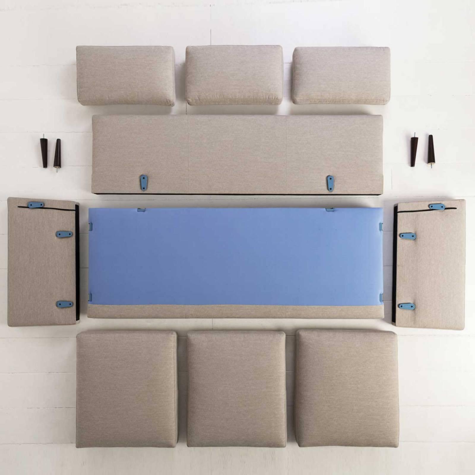 Swyft - Model 02 Velvet 3 Seater Sofa - Elephant thumbnails