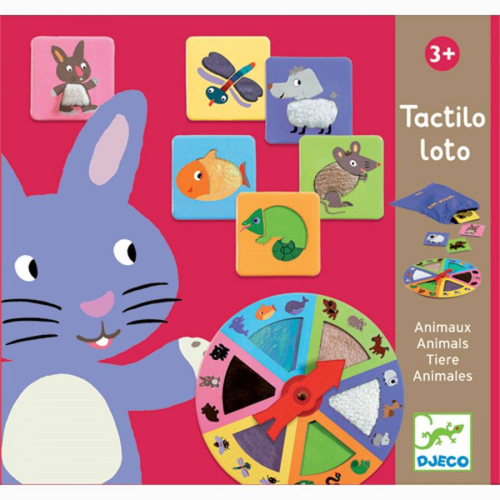 Tactile Loto Game - Animals By Djeco 3+ thumbnails