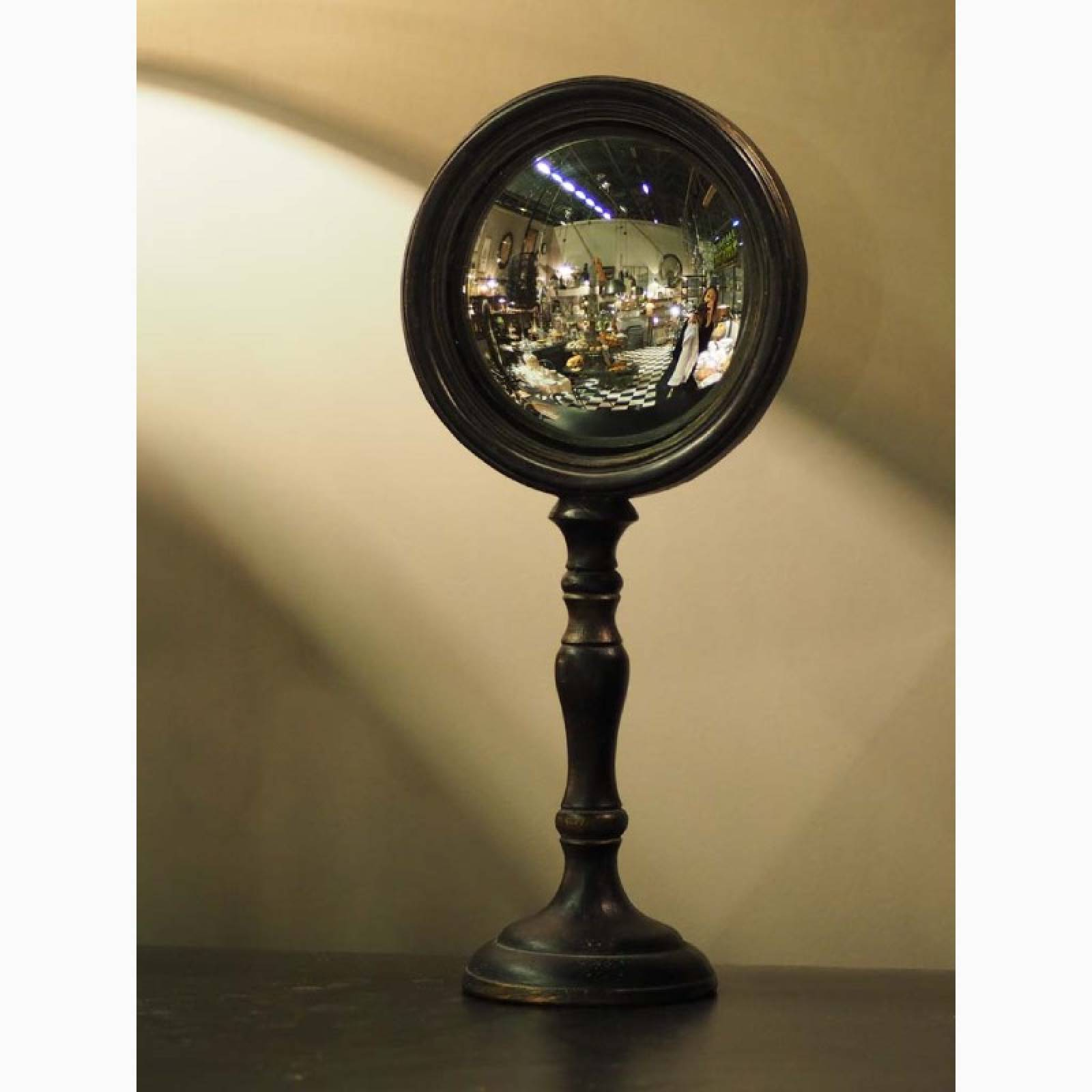 Tall Convex Table Mirror On Stand thumbnails