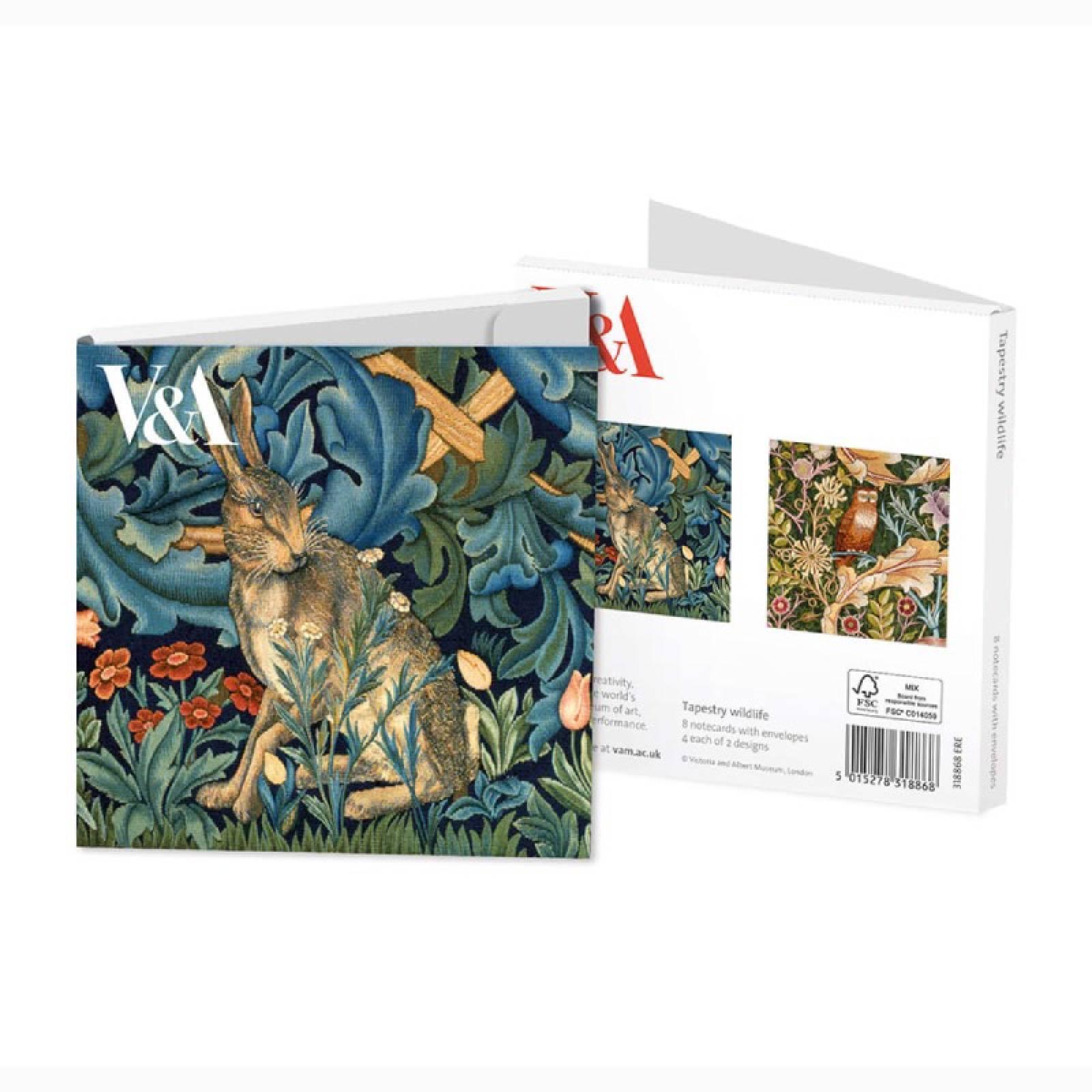 Tapestry Wildlife - Set Of 8 Notecards & Envelopes
