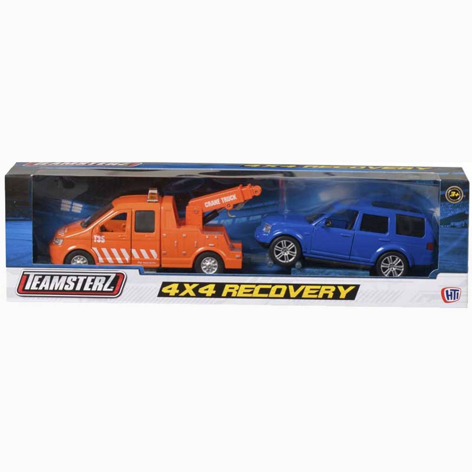 Teamsterz Recovery Tow Truck & Land Rover Diecast Toy Car Set