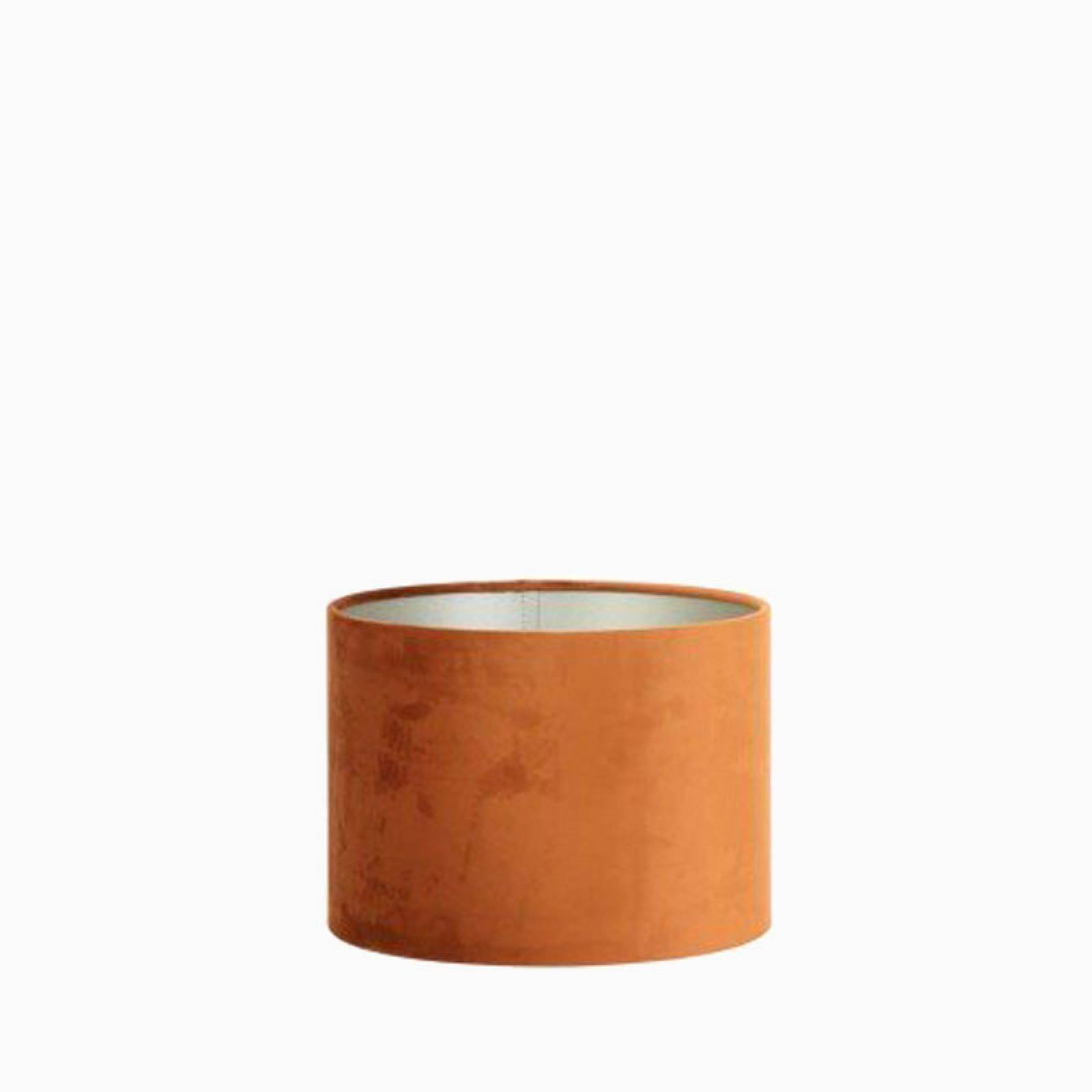 Terra Burnt Orange Velour Lamp Shade 30cm