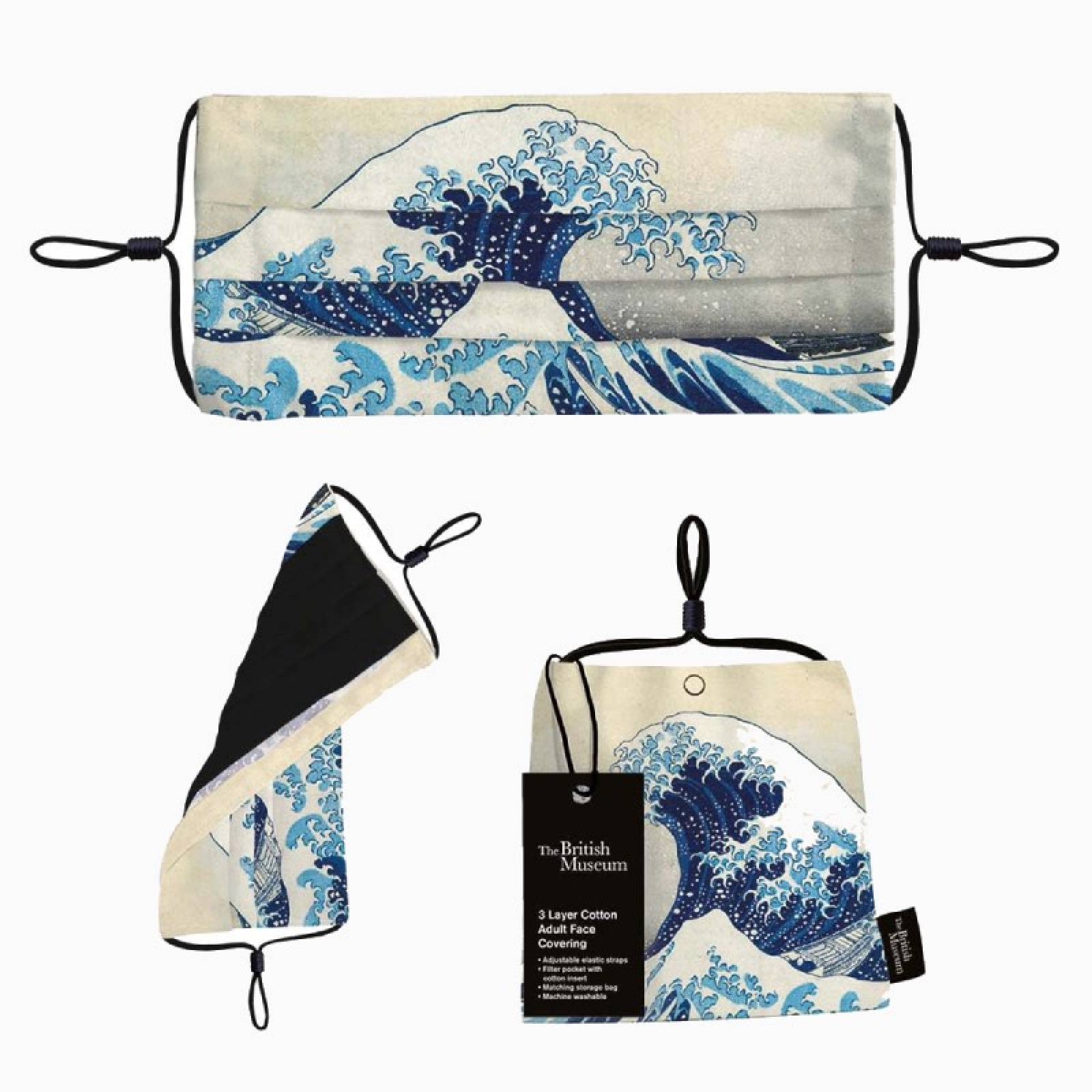 The Great Wave - Face Mask With Storage Bag