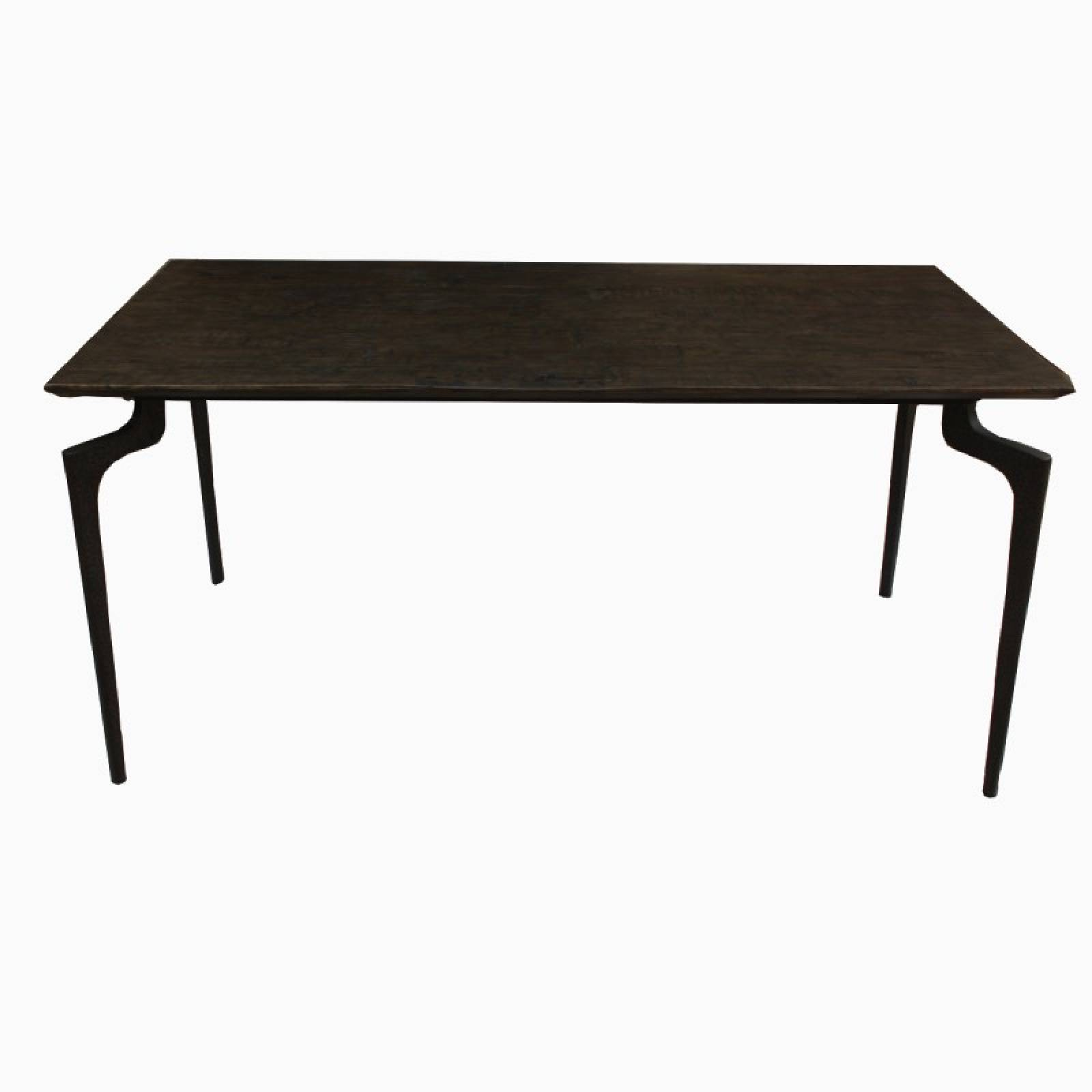 The Whitby Small Black Wood And Metal Dining Table