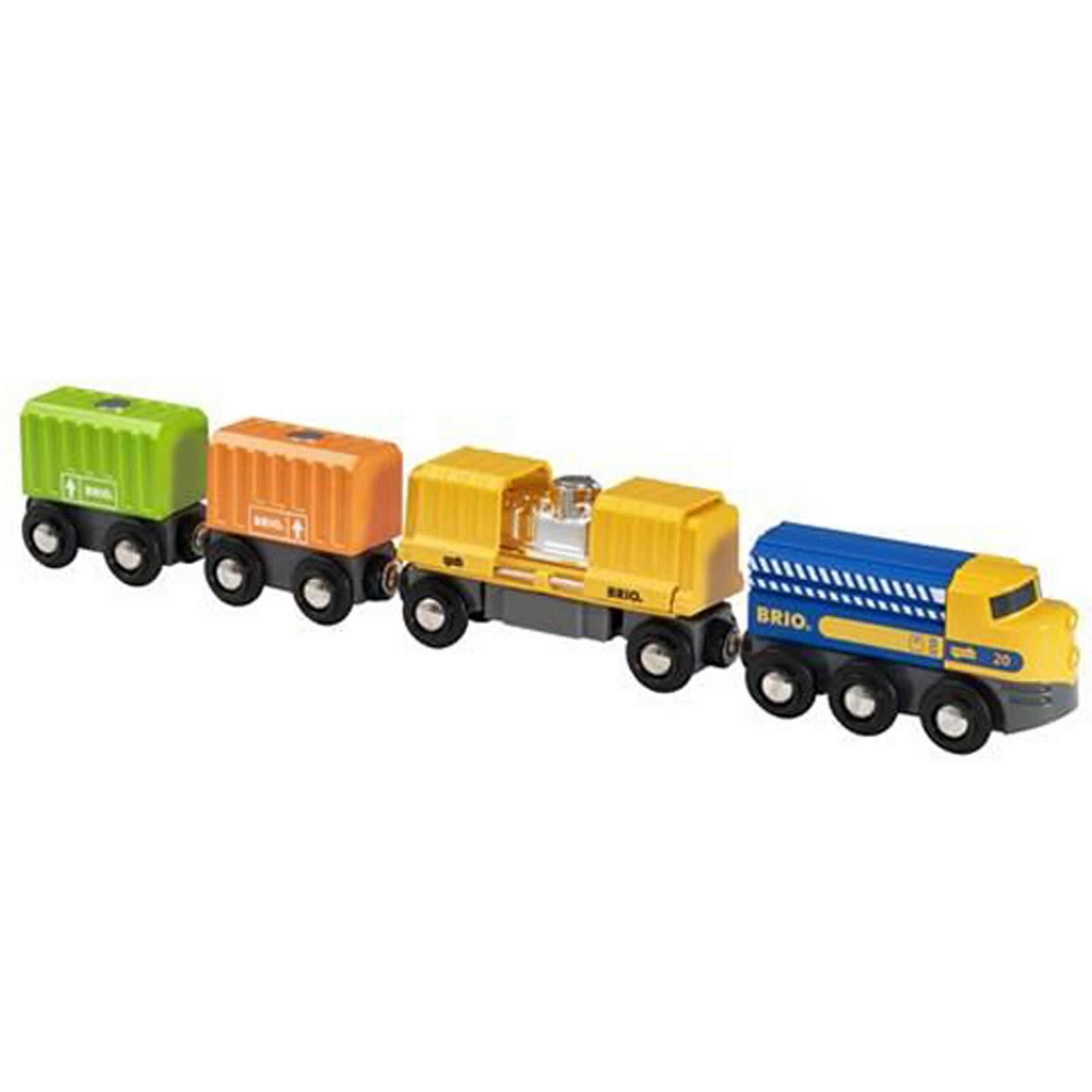 Three-Wagon Cargo Train BRIO Wooden Railway Age 3+ thumbnails