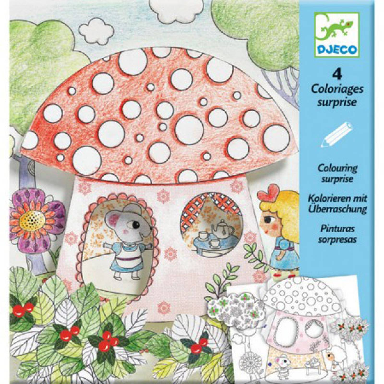 Thumbelina Colouring Surprise By Djeco 6-9yrs