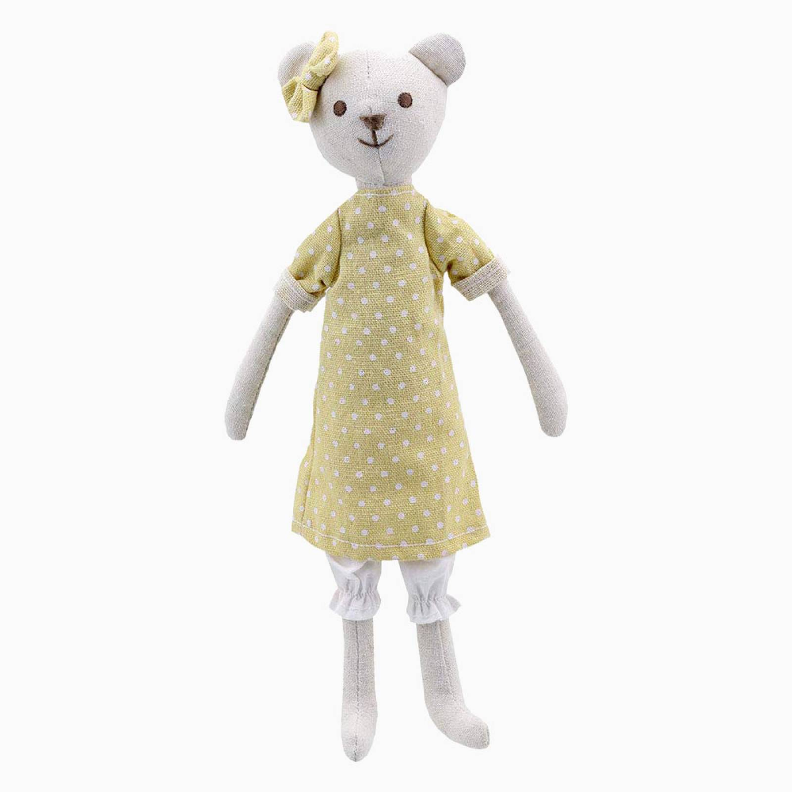 Girl Bear - Wilberry Linen Soft Toy 0+