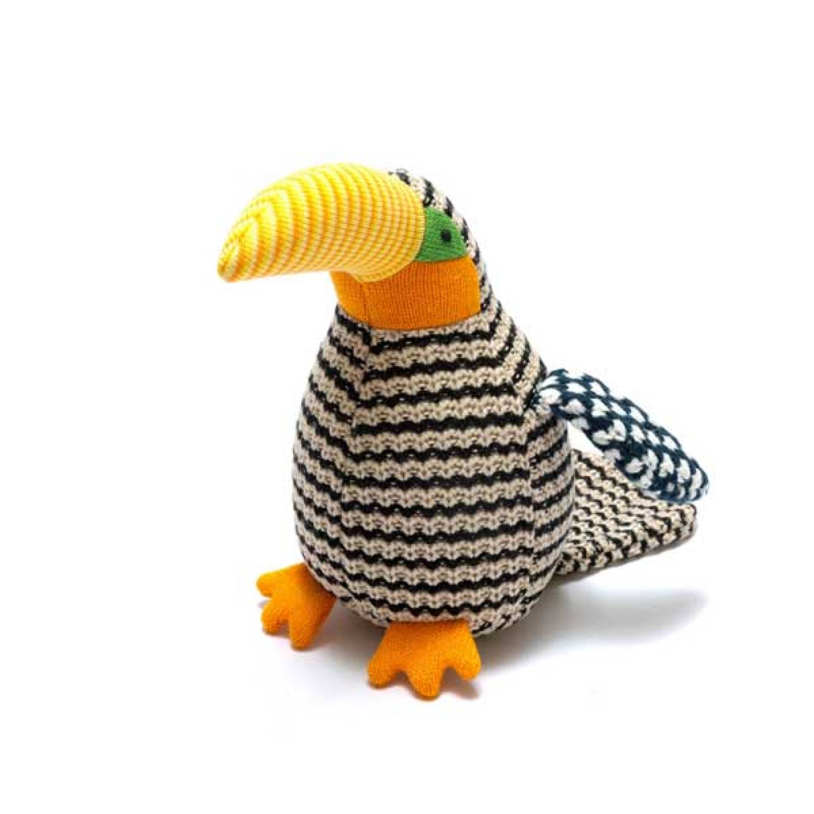 Benjie The Toucan Knitted Soft Toy 0+
