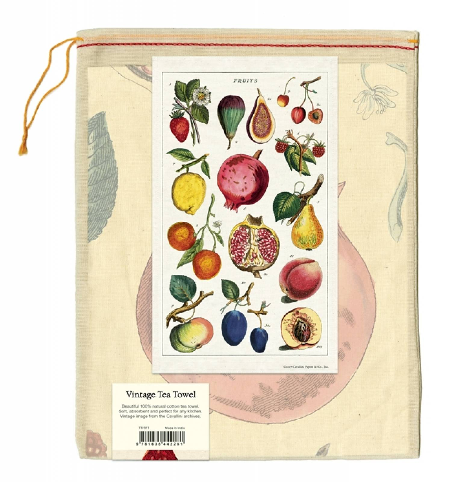 Fruit Cotton Tea Towel With Gift Bag thumbnails