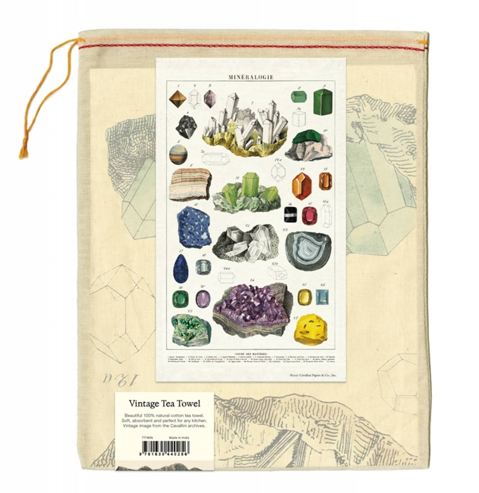 Mineralogie Cotton Tea Towel With Gift Bag thumbnails