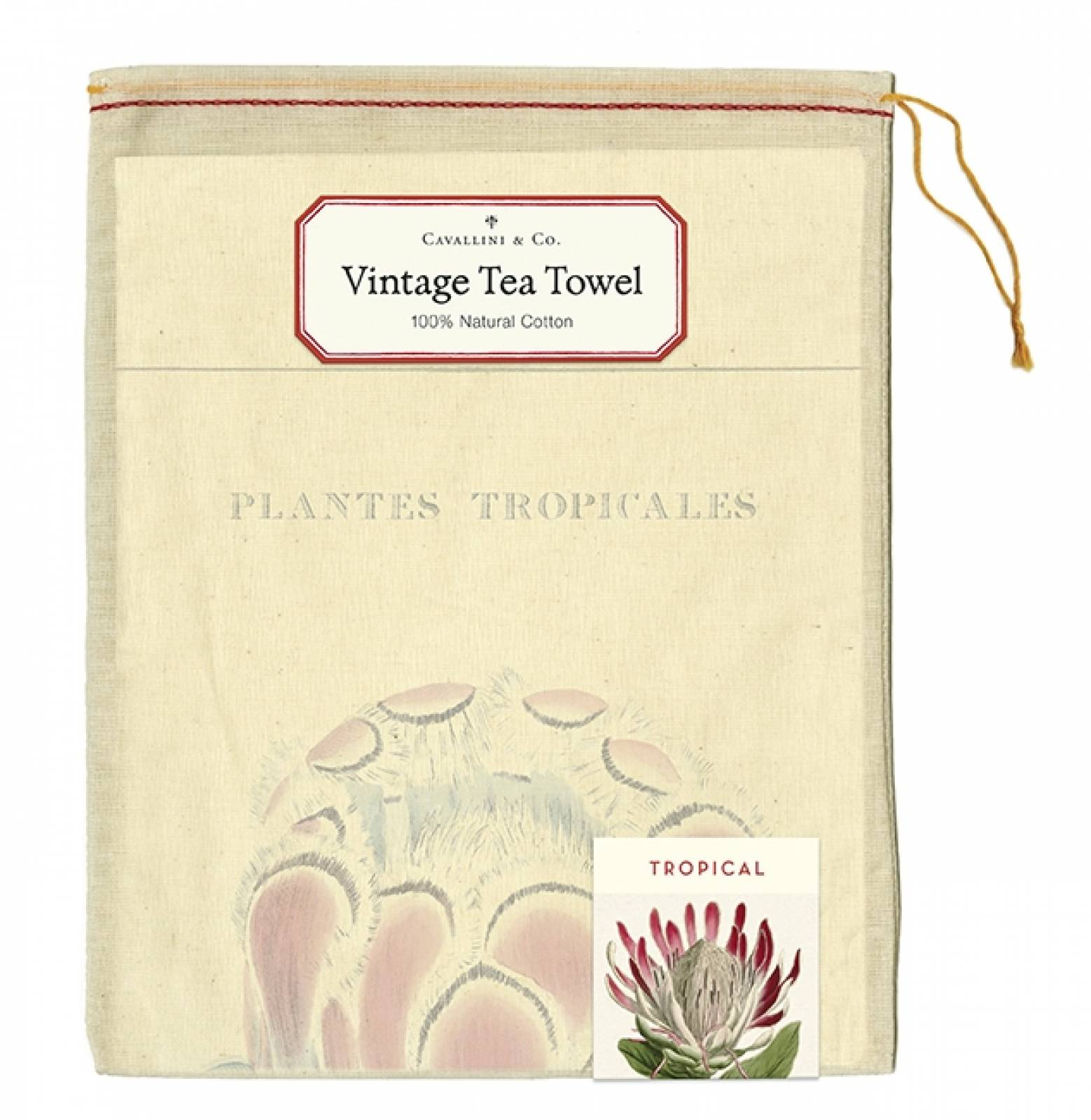Tropical Plants Cotton Tea Towel With Gift Bag thumbnails