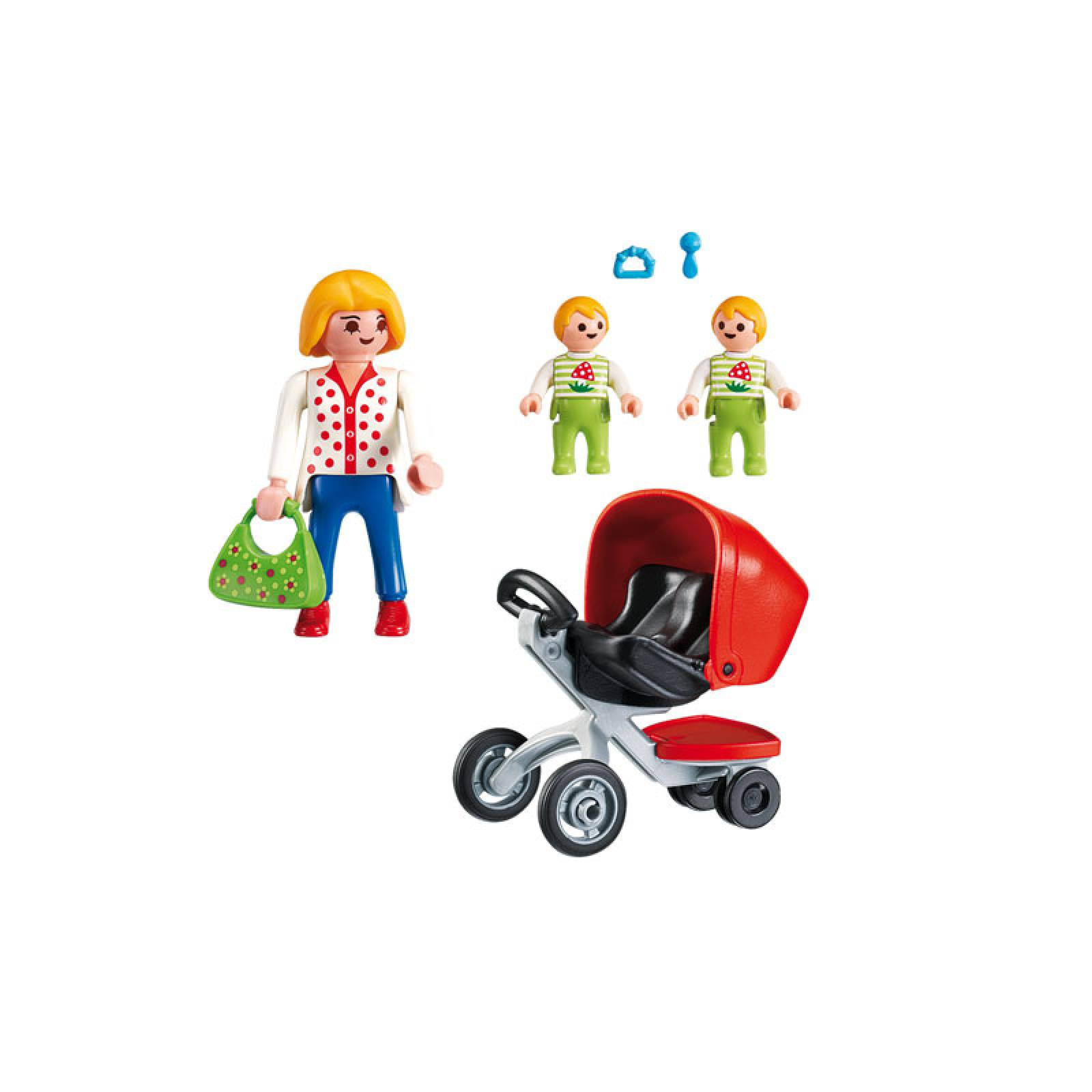 Mother With Twin Stroller City Life Playmobil 5573 4-10yrs thumbnails