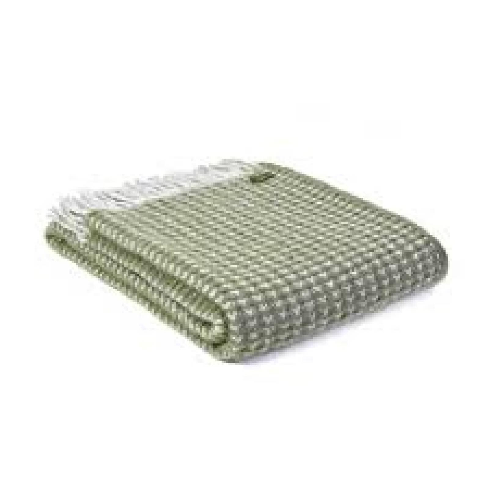 Treetop Wool Blanket Olive 150x183cm