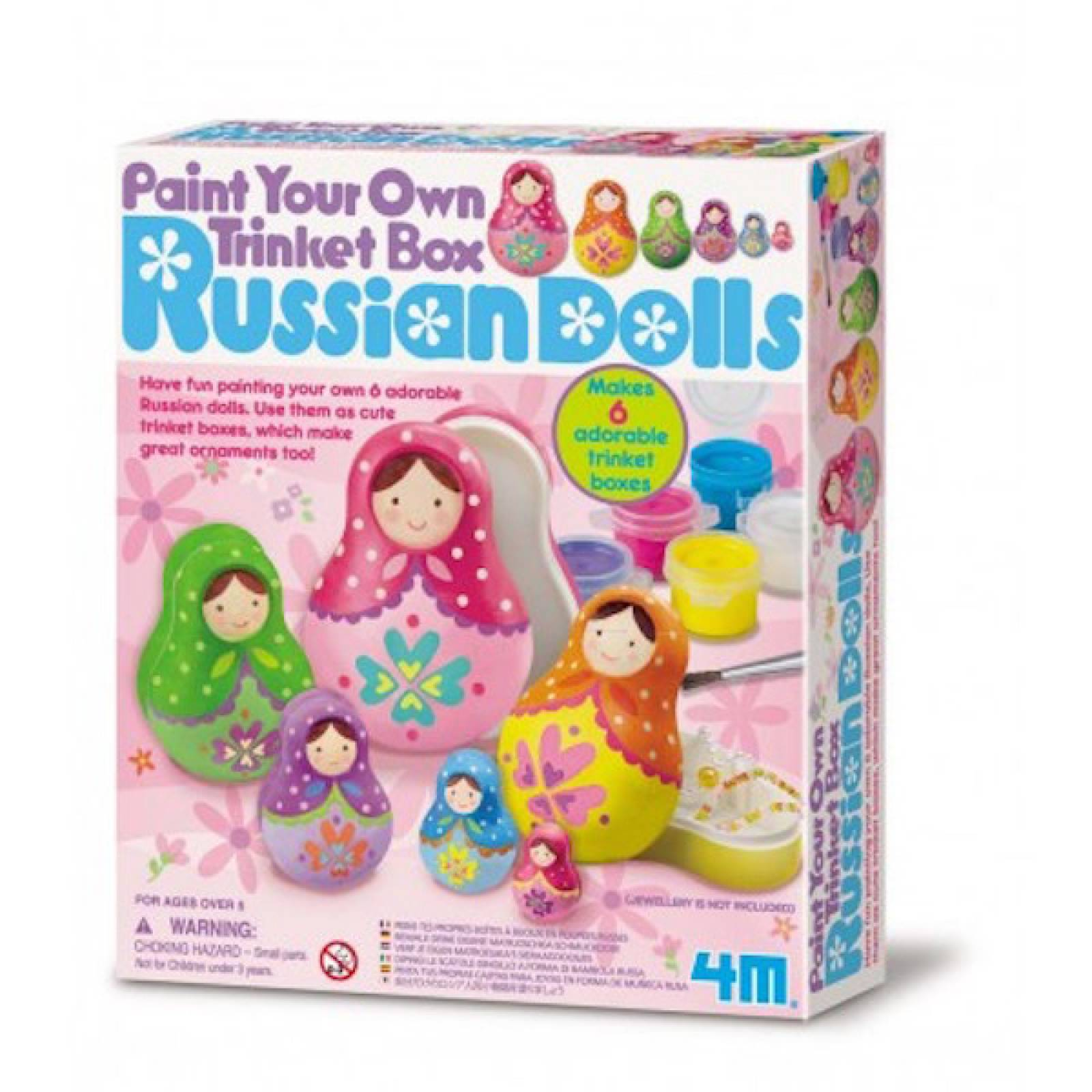 Paint Your Own Trinket Box Russian Dolls 8+