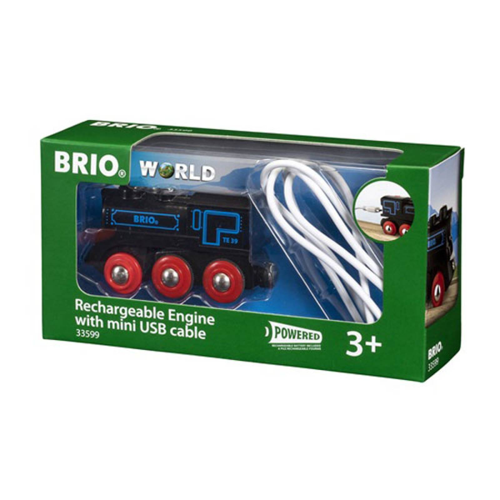 Rechargeable Engine Mini USB BRIO Wooden Railway Age 3+ thumbnails