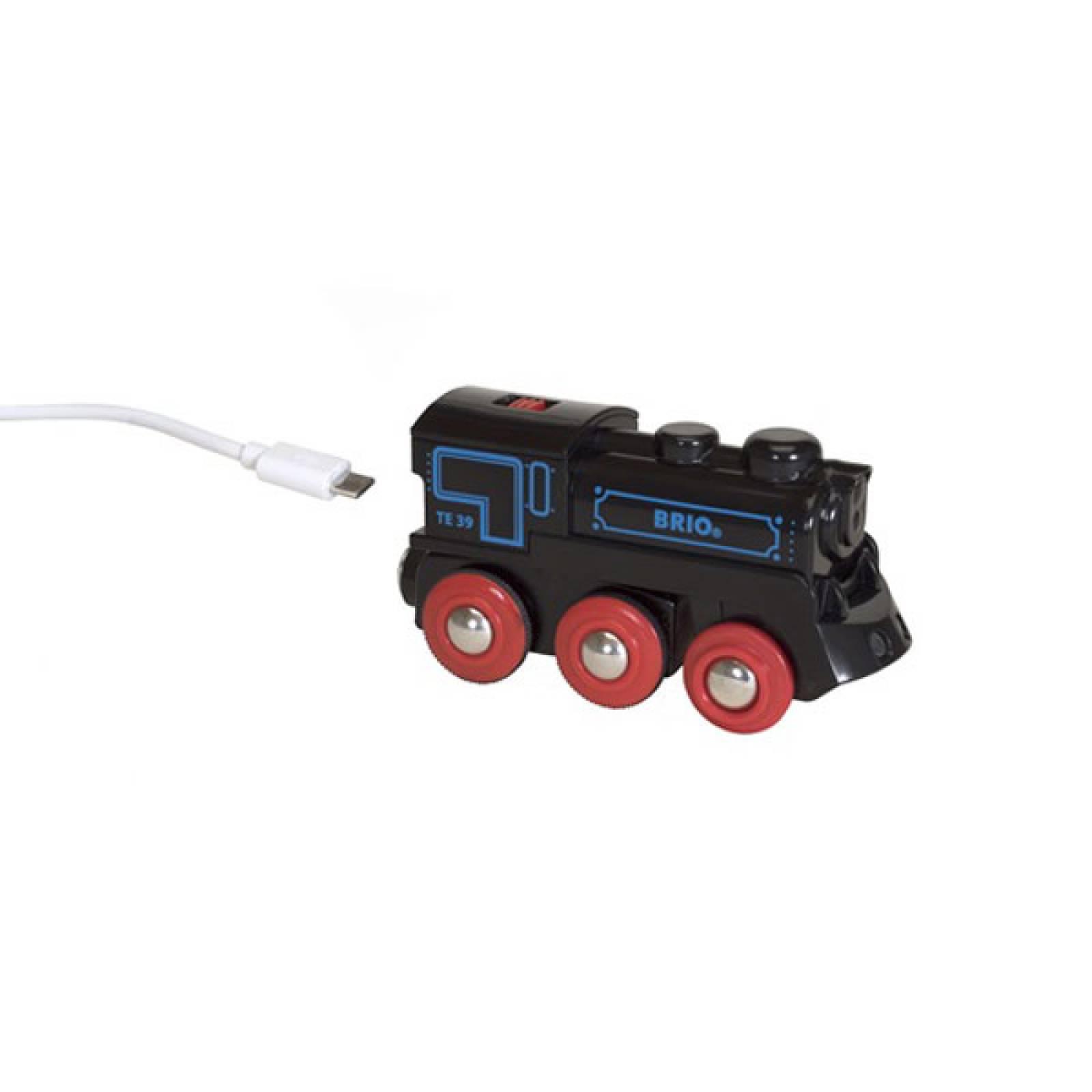 Rechargeable Engine Mini USB BRIO Wooden Railway Age 3+
