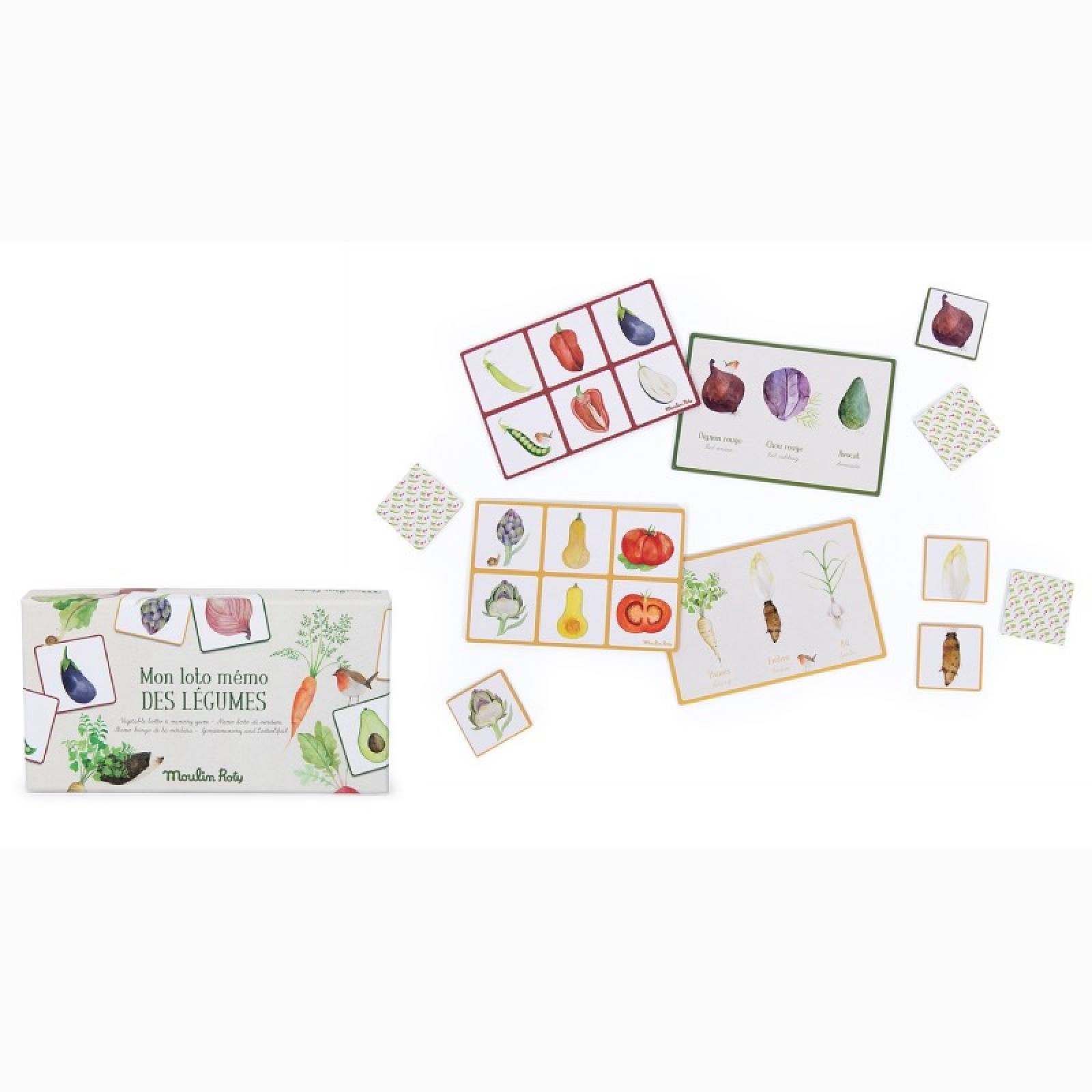 Vegetable Lotto & Memory Game 3+