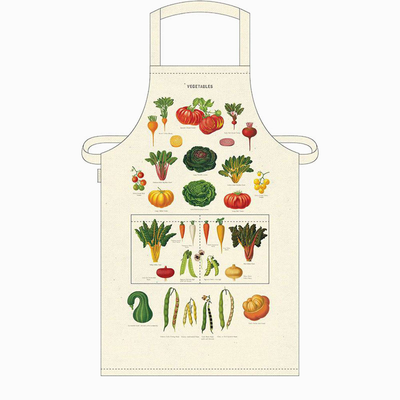 Vegetables Cotton Apron with Gift Bag