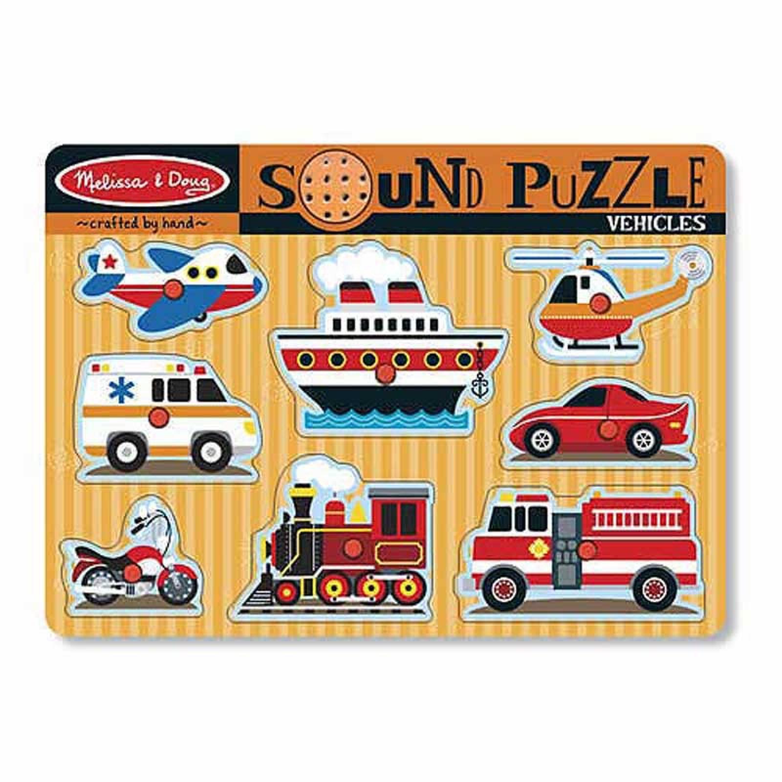 Vehicles Sound Puzzle 2+