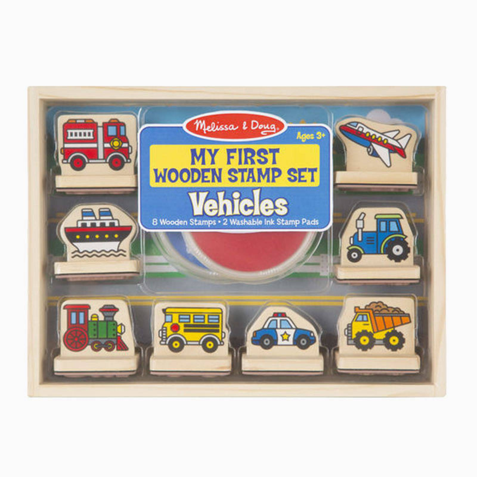 My First Wooden Stamp Set - Vehicles 3+ thumbnails