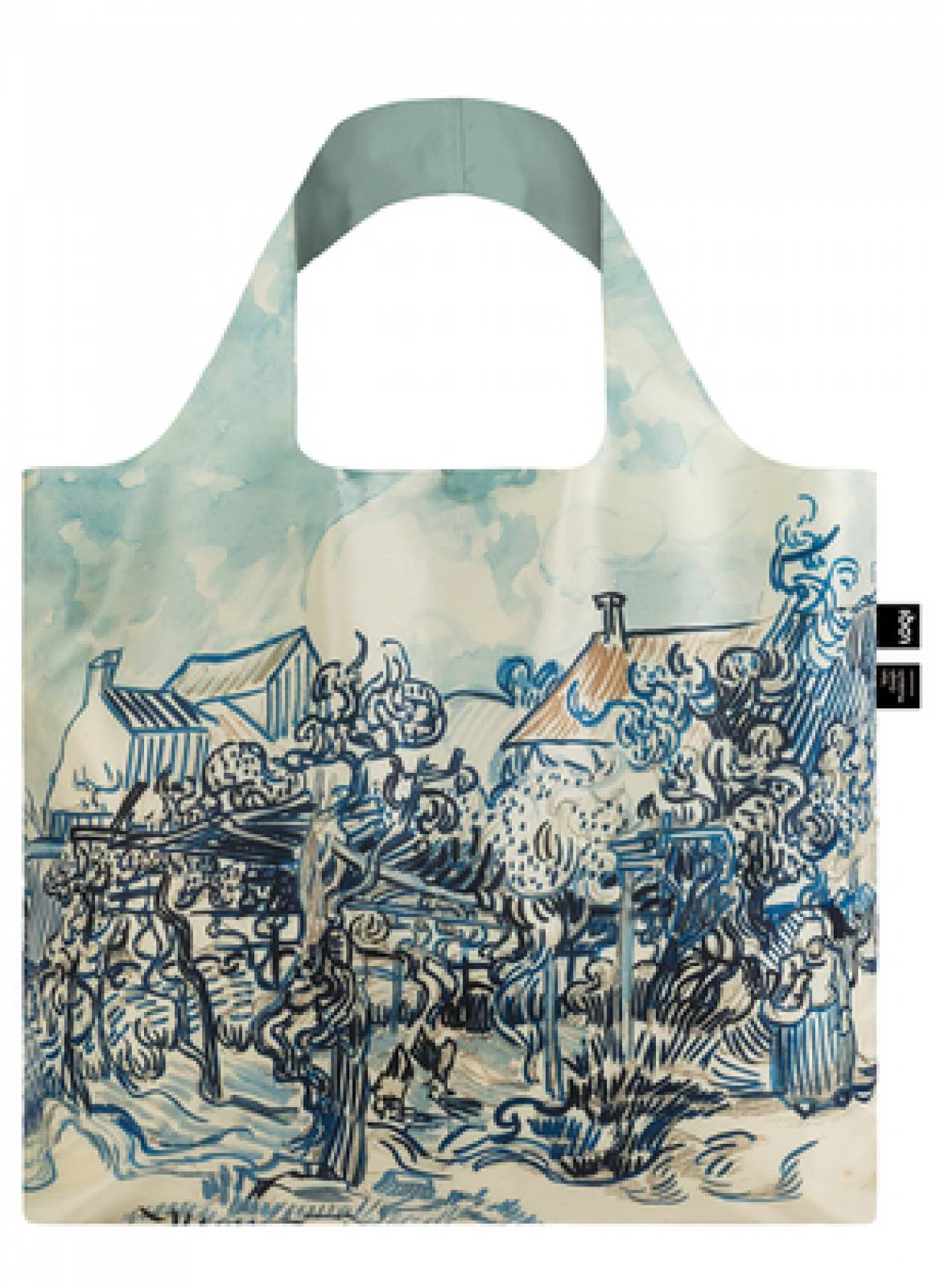 Old Vineyard and Landscape - Reusable Tote Bag With Pouch thumbnails