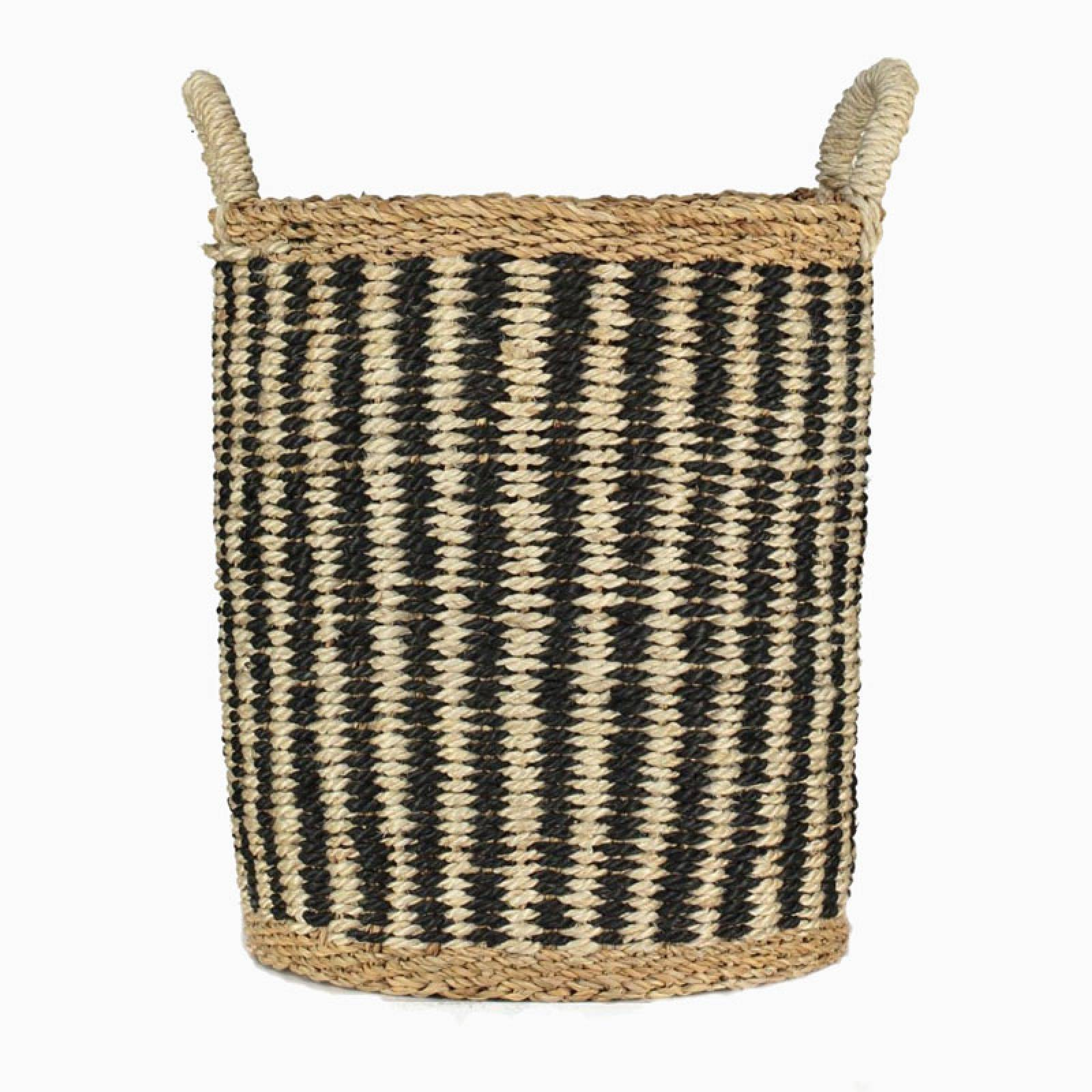 Village Tall Utility Basket With Vertical Stripes