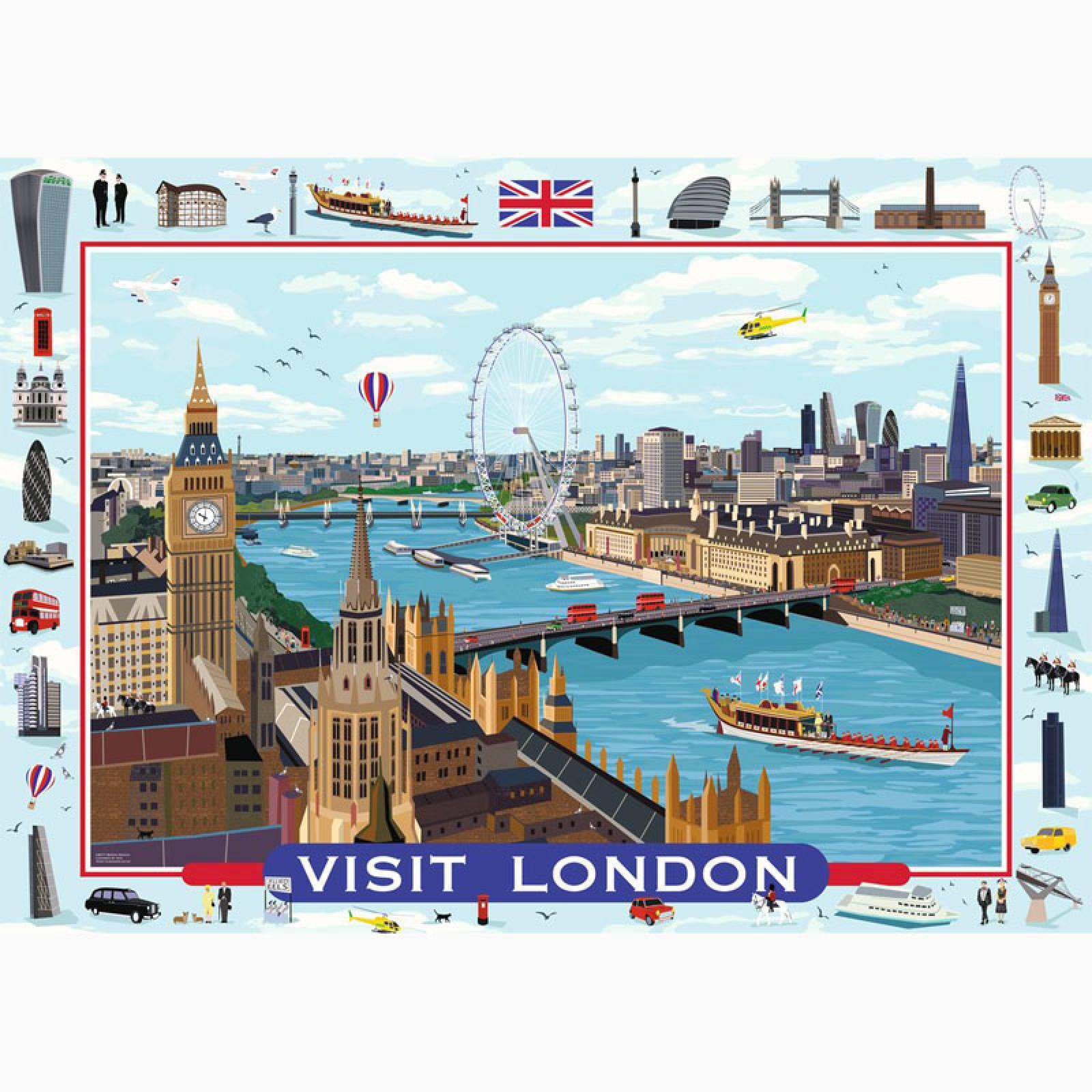 Visit London! 1000 Piece Jigsaw Puzzle