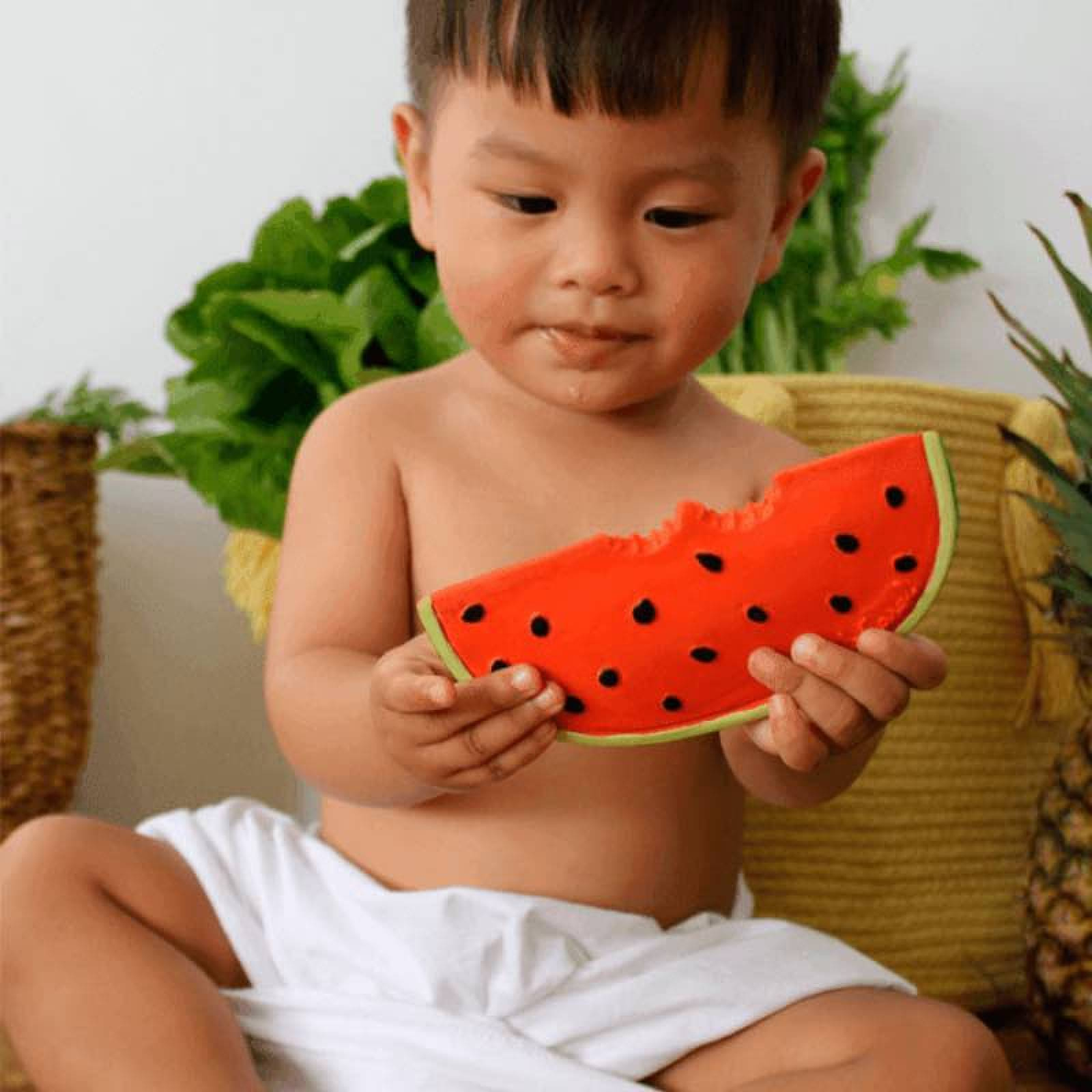 Wally The Watermelon - Natural Rubber Teething Toy 0+ thumbnails