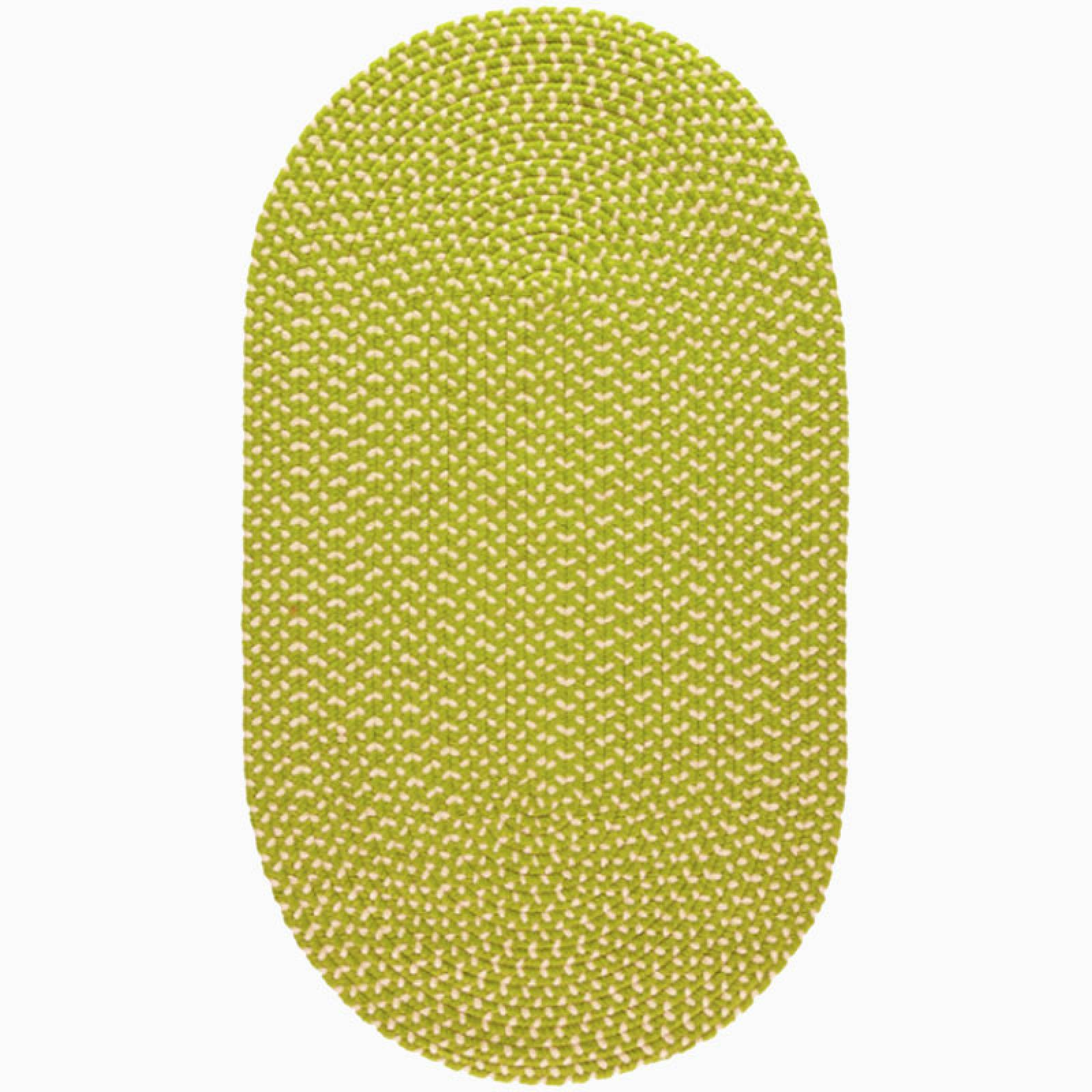 Wasabi Cream Braided Rug Recycled Plastic 61x183cm thumbnails