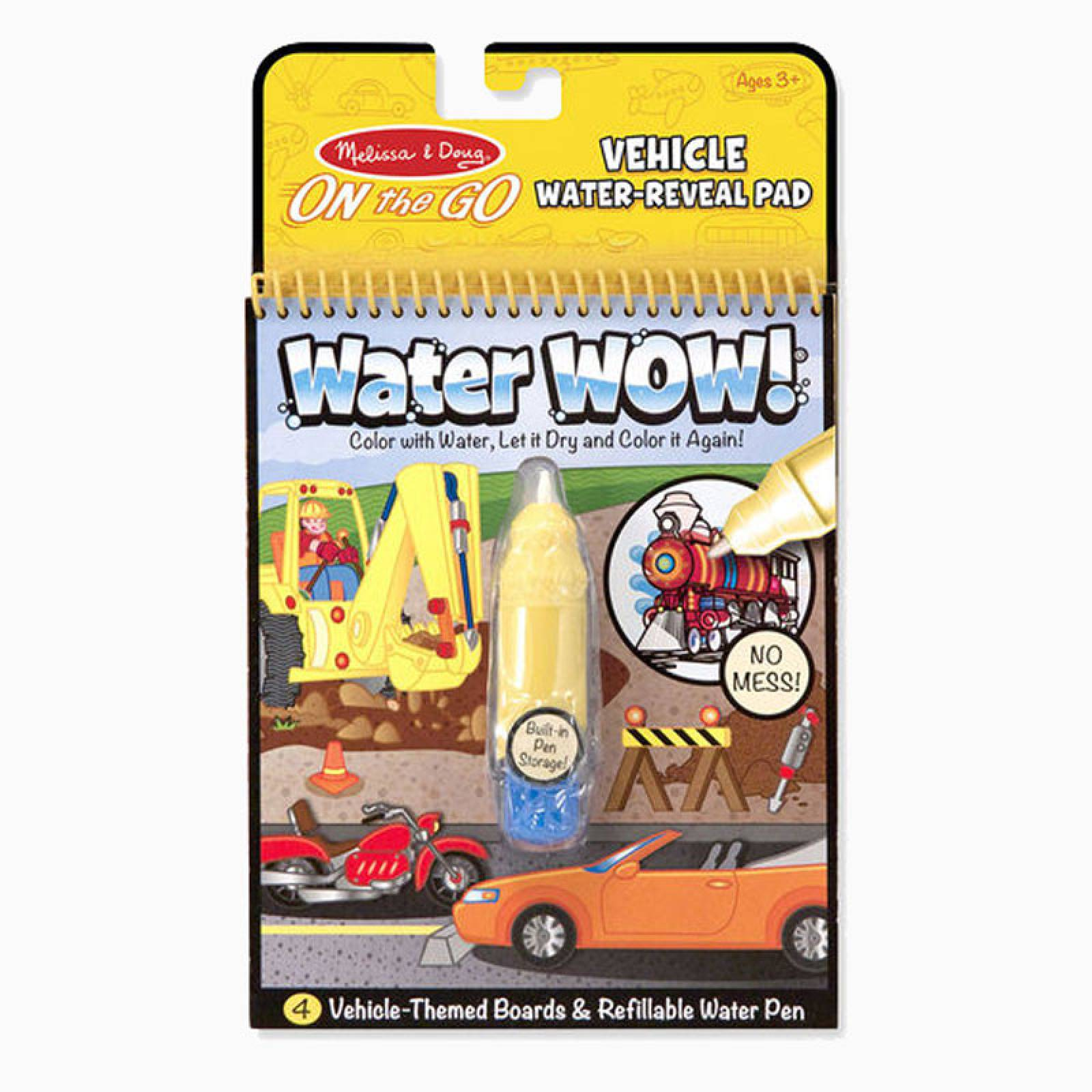 Water Wow! Vehicles - On the Go Travel Activity 3+