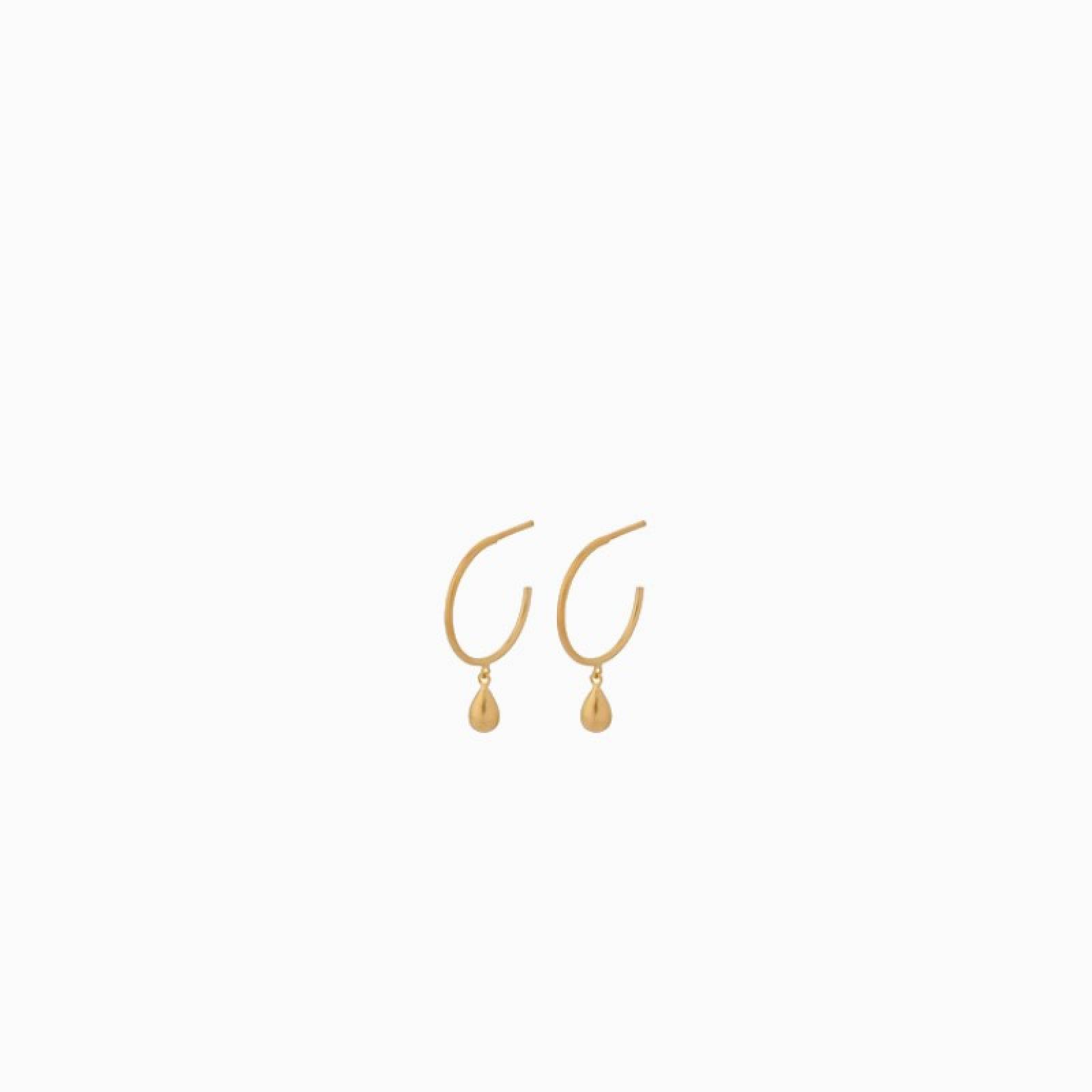 Waterdrop Hoop Earrings In Gold By Pernille Corydon