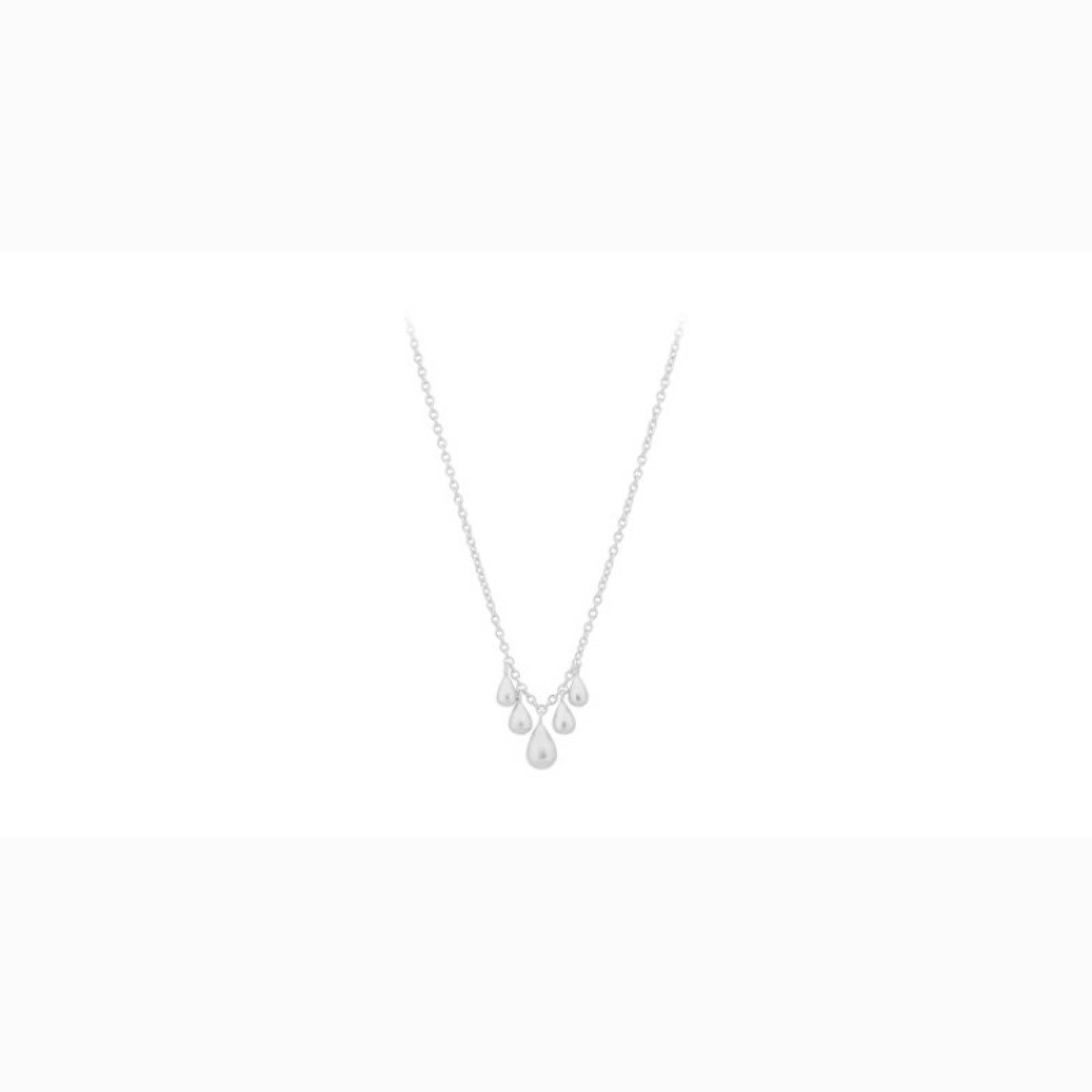 Waterdrop Necklace In Silver By Pernillle Corydon
