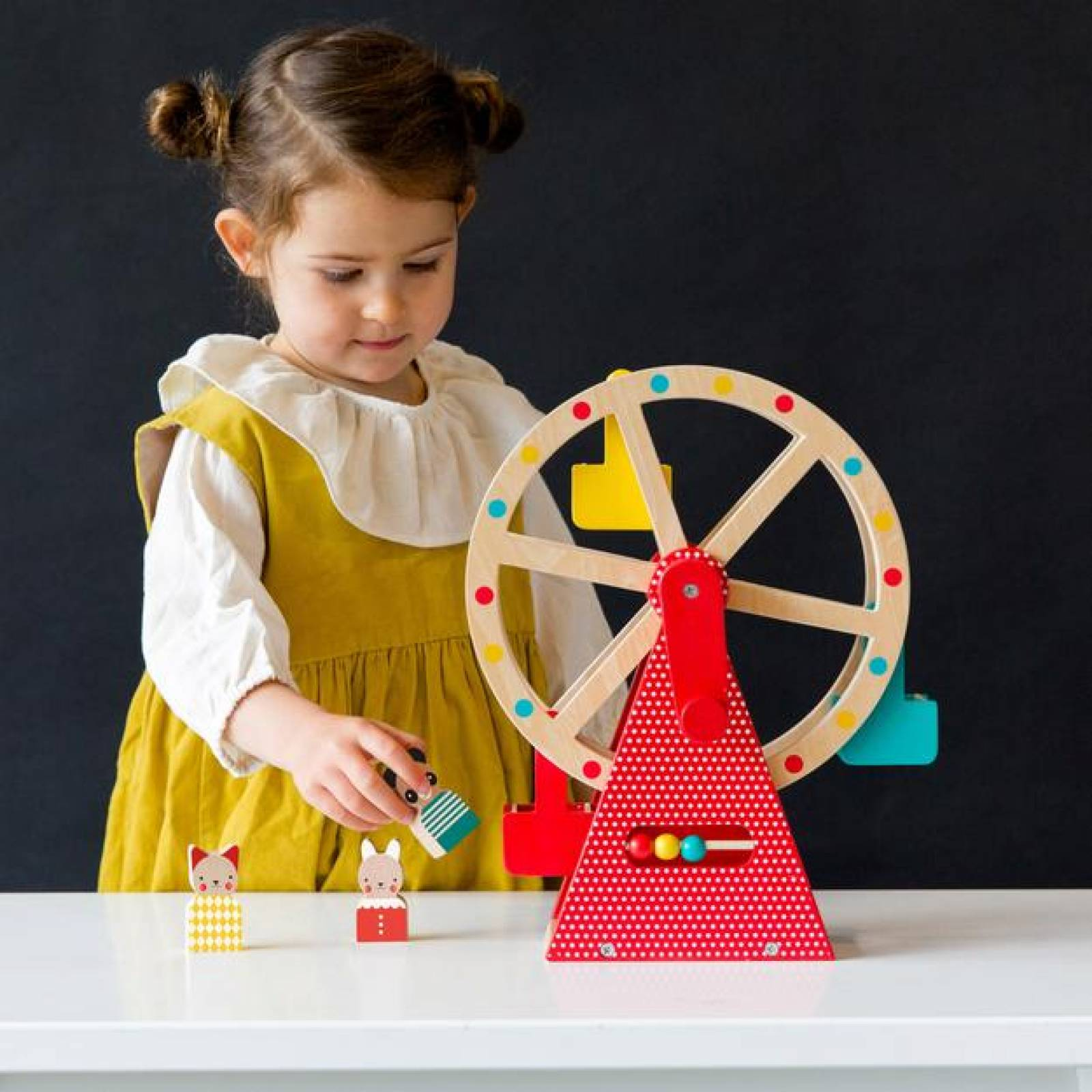 Wooden Carnival Play Set Ferris Wheel Toy By Petit Collage thumbnails