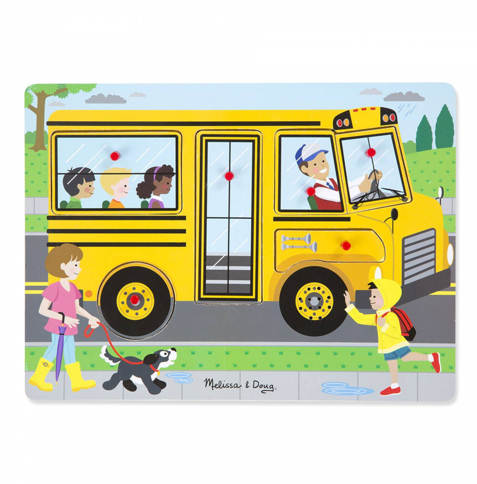 The Wheels On The Bus Sound Puzzle 2+