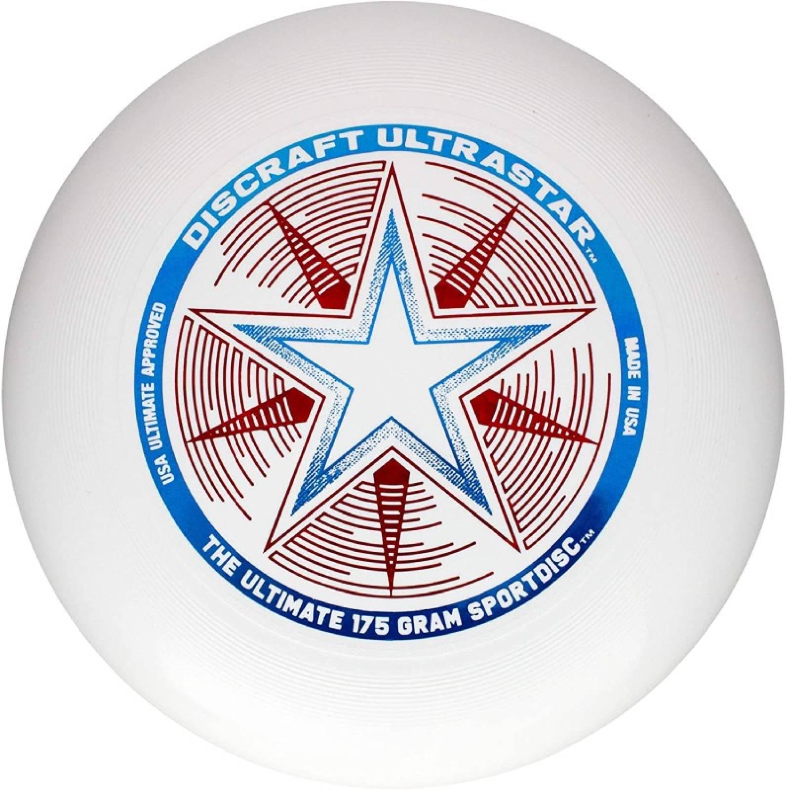 White Discraft Ultra Star Frisbee