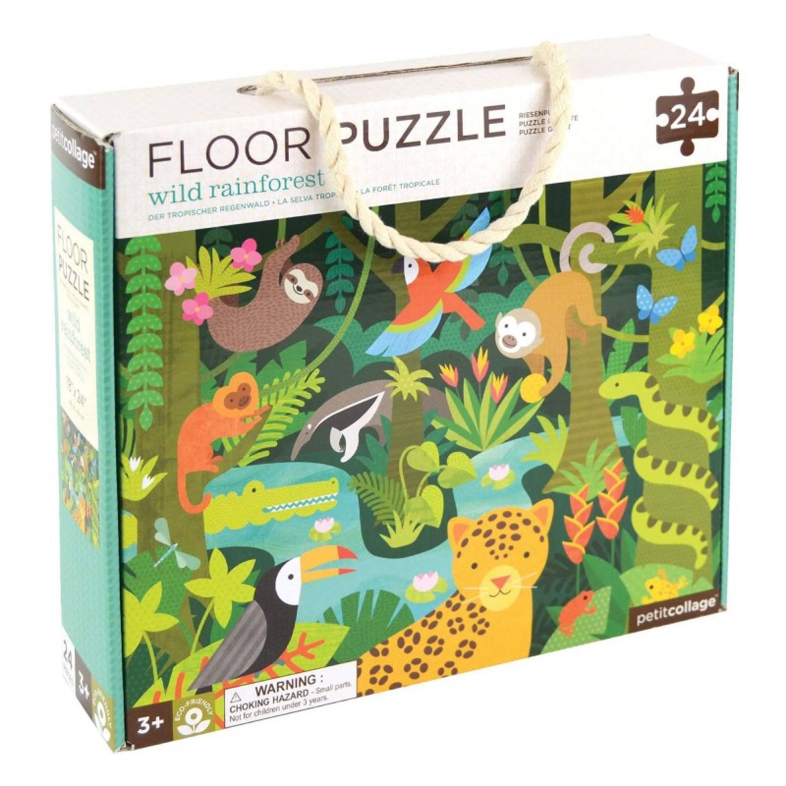 Wild Rainforest Floor Puzzle 24pc 3+