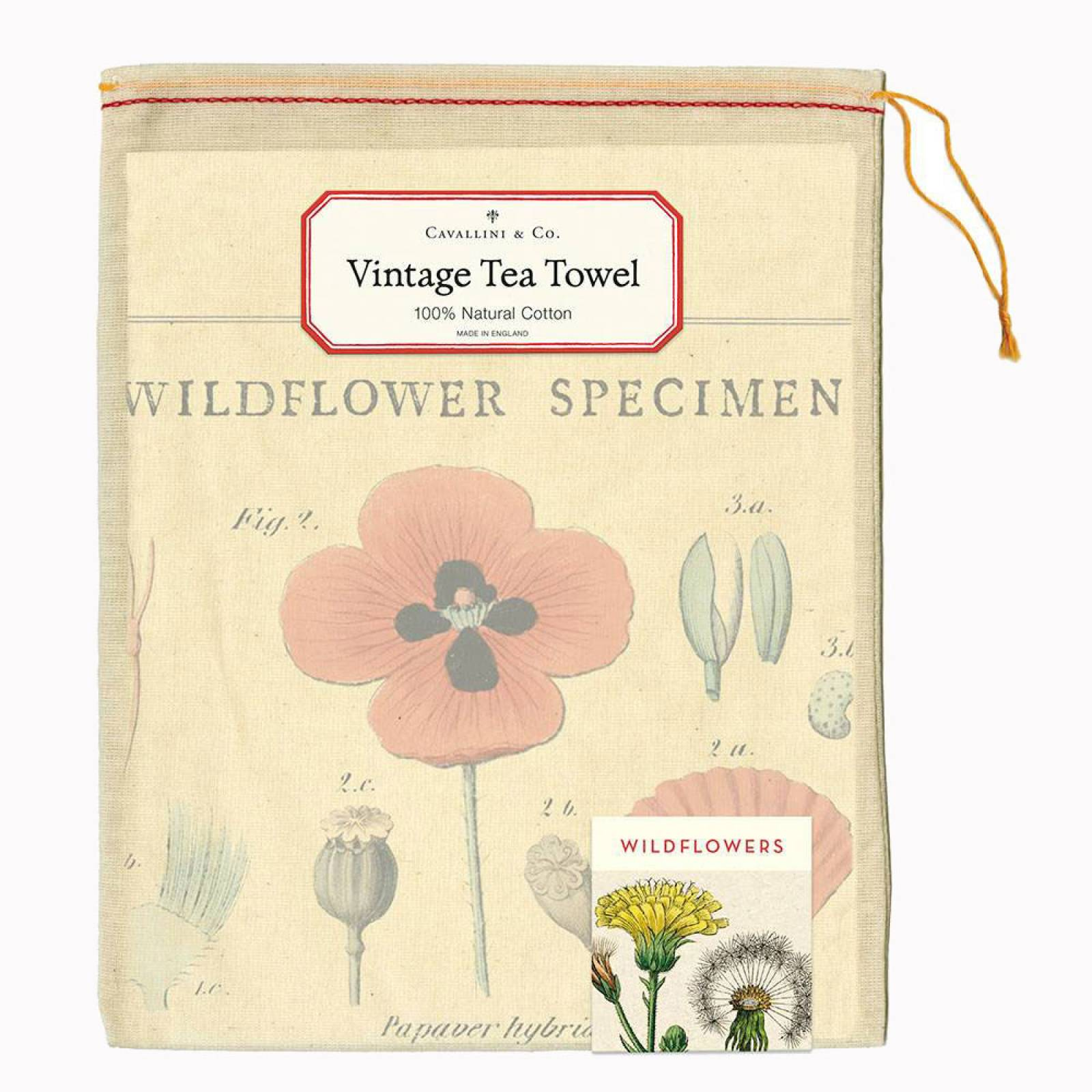 Wildflowers Cotton Tea Towel With Gift Bag thumbnails