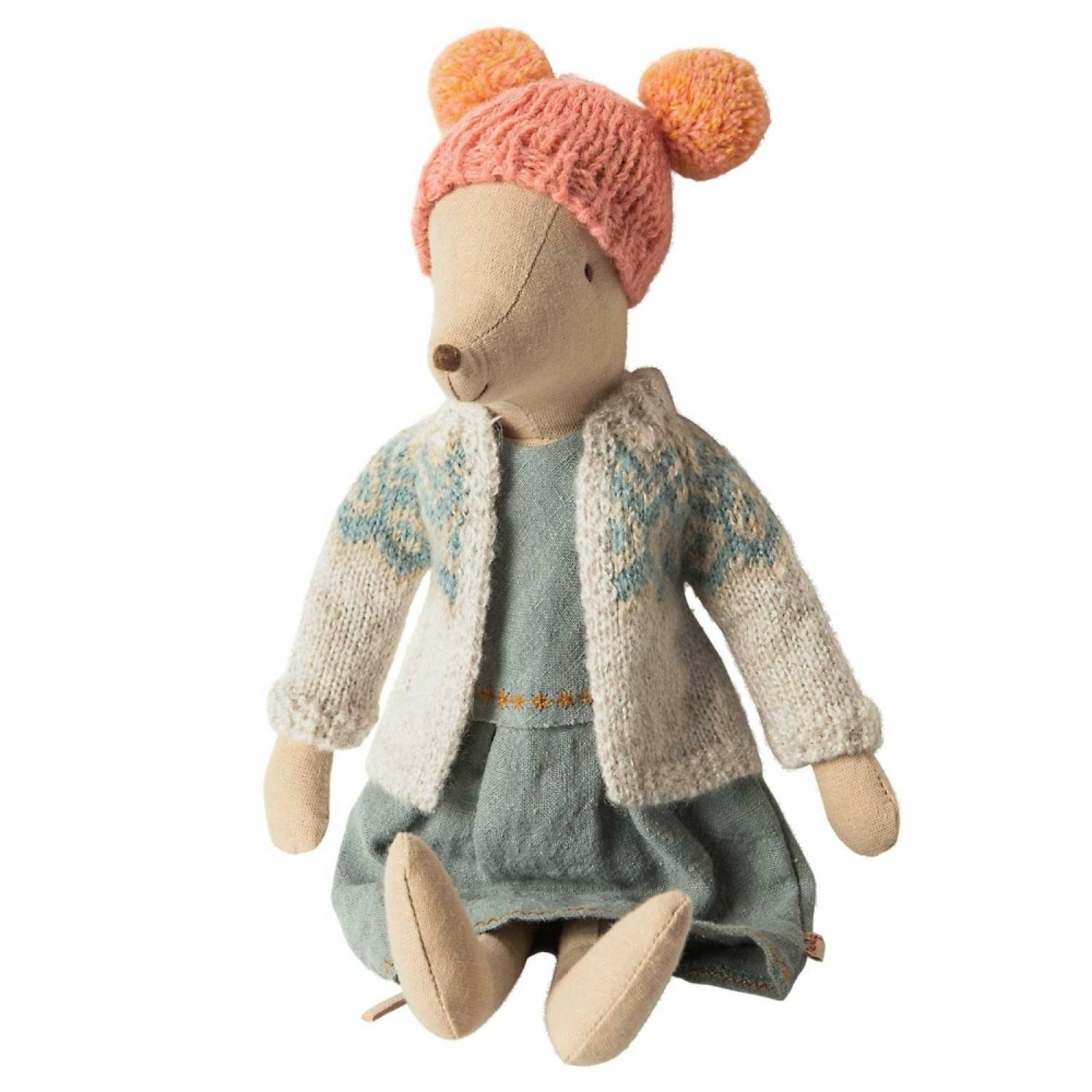 Winter Girl Mouse in Cardigan By Maileg thumbnails