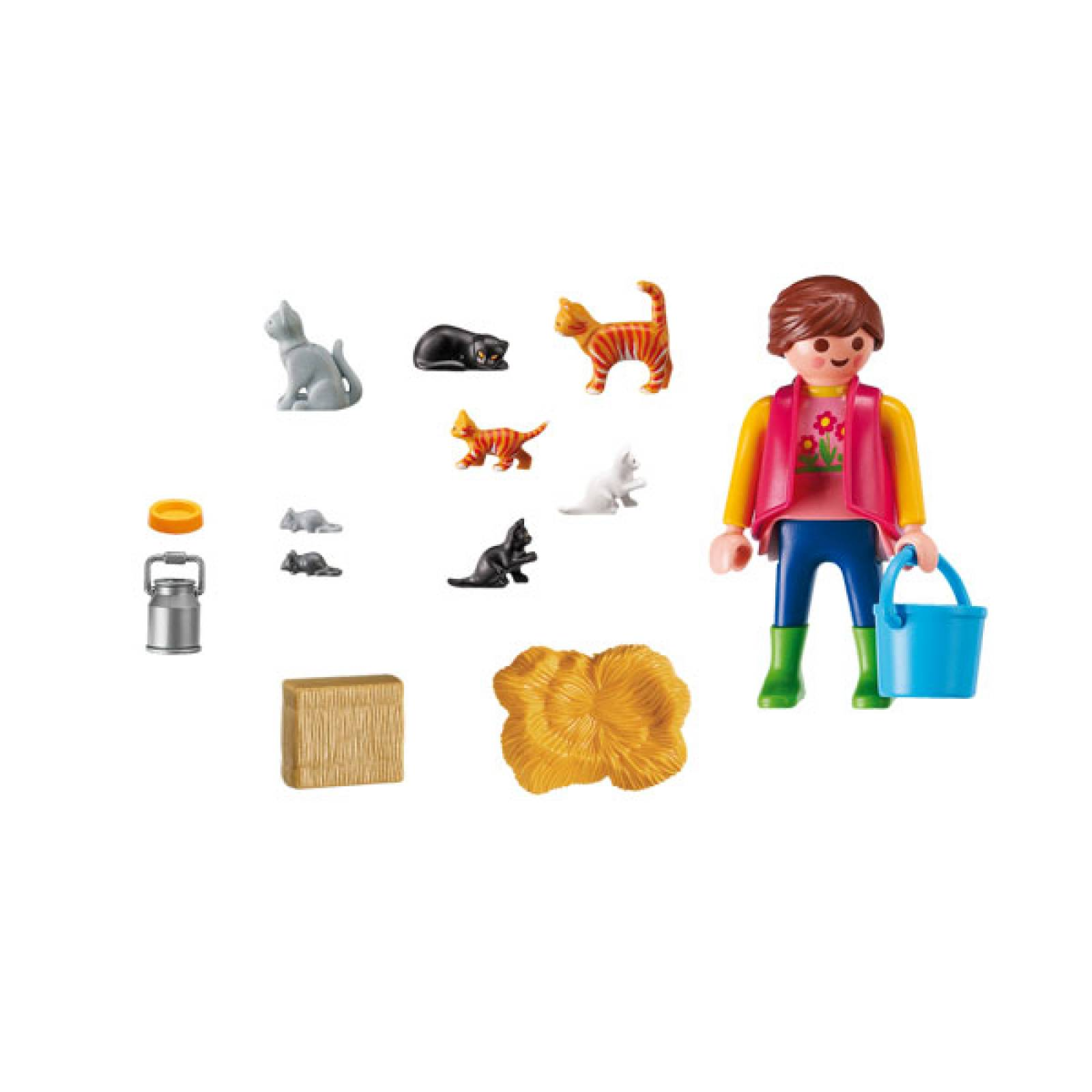 Woman With Cat Family Playmobil 6139 thumbnails
