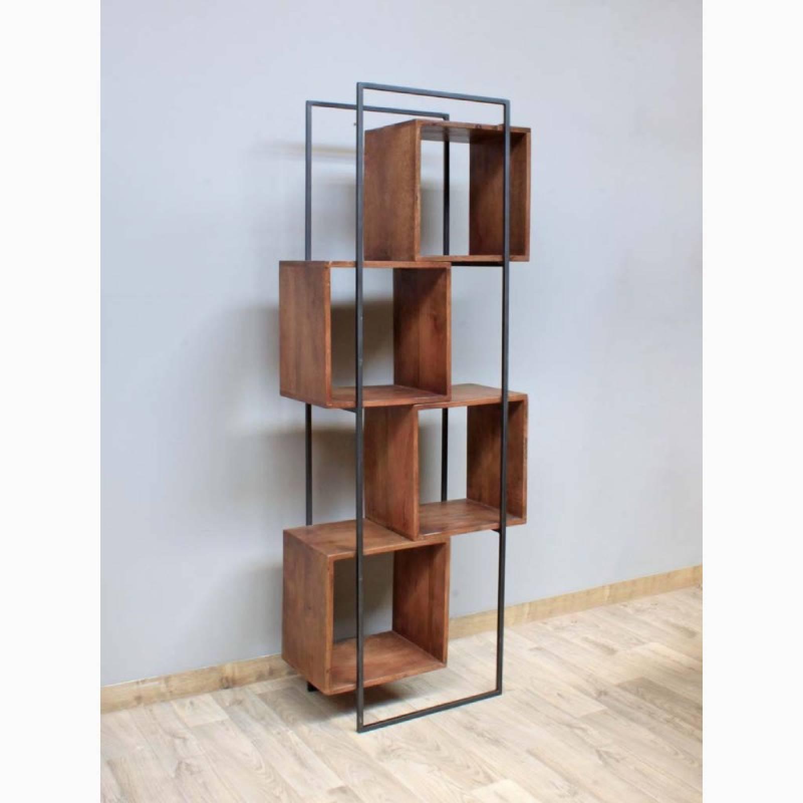 Wood & Metal Offset Quadrant Tall Shelving Unit thumbnails