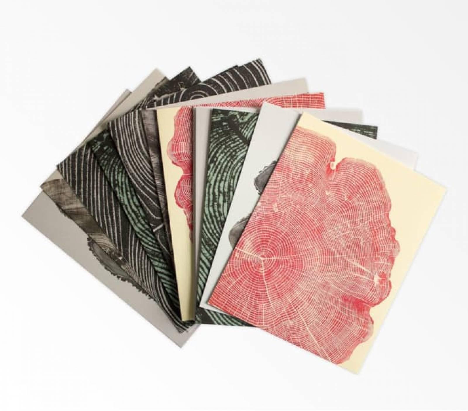Box Of 12 Woodcut Notecards thumbnails