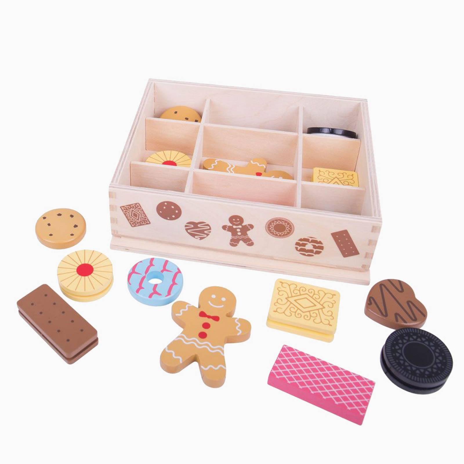 Wooden Box Of Play Biscuits 3+