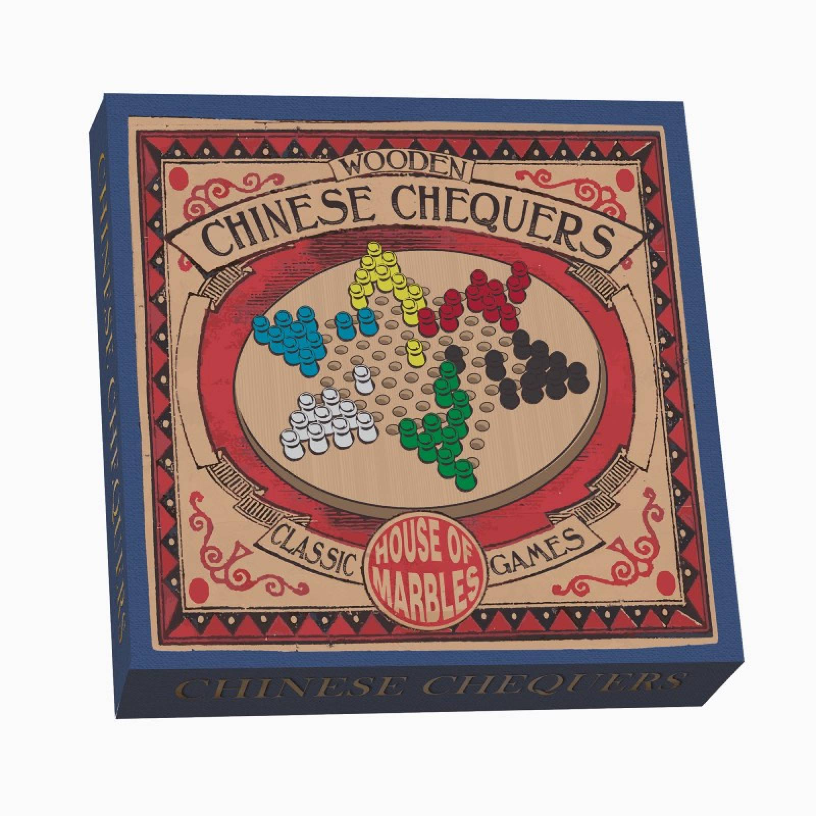 Wooden Chinese Chequers Game 8+